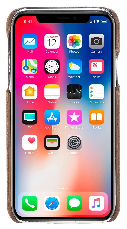 iPhone XR Lederhülle Ultra Slim in Cognac Braun Burned