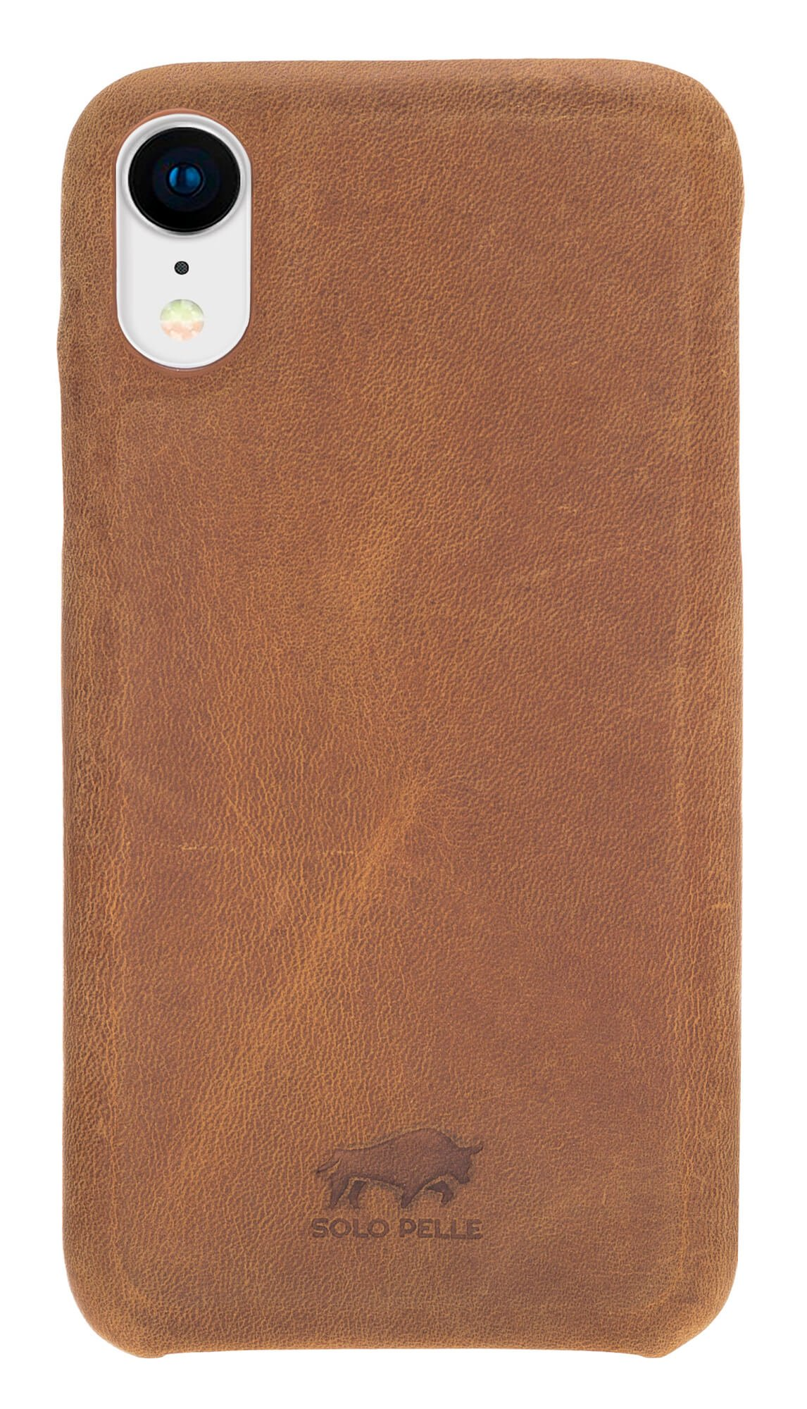 iPhone XR Lederhülle - F360 Fullcover - in Camel Braun