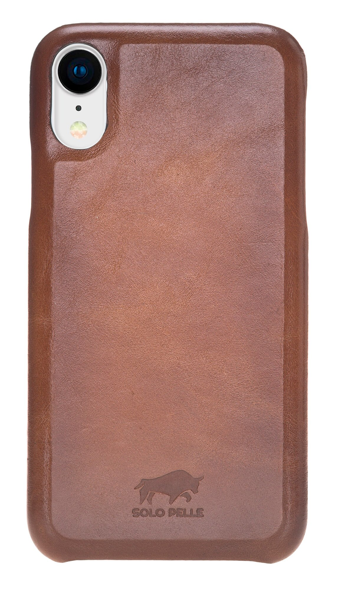 iPhone XR Lederhülle - F360 Fullcover - in Cognac Braun Burned