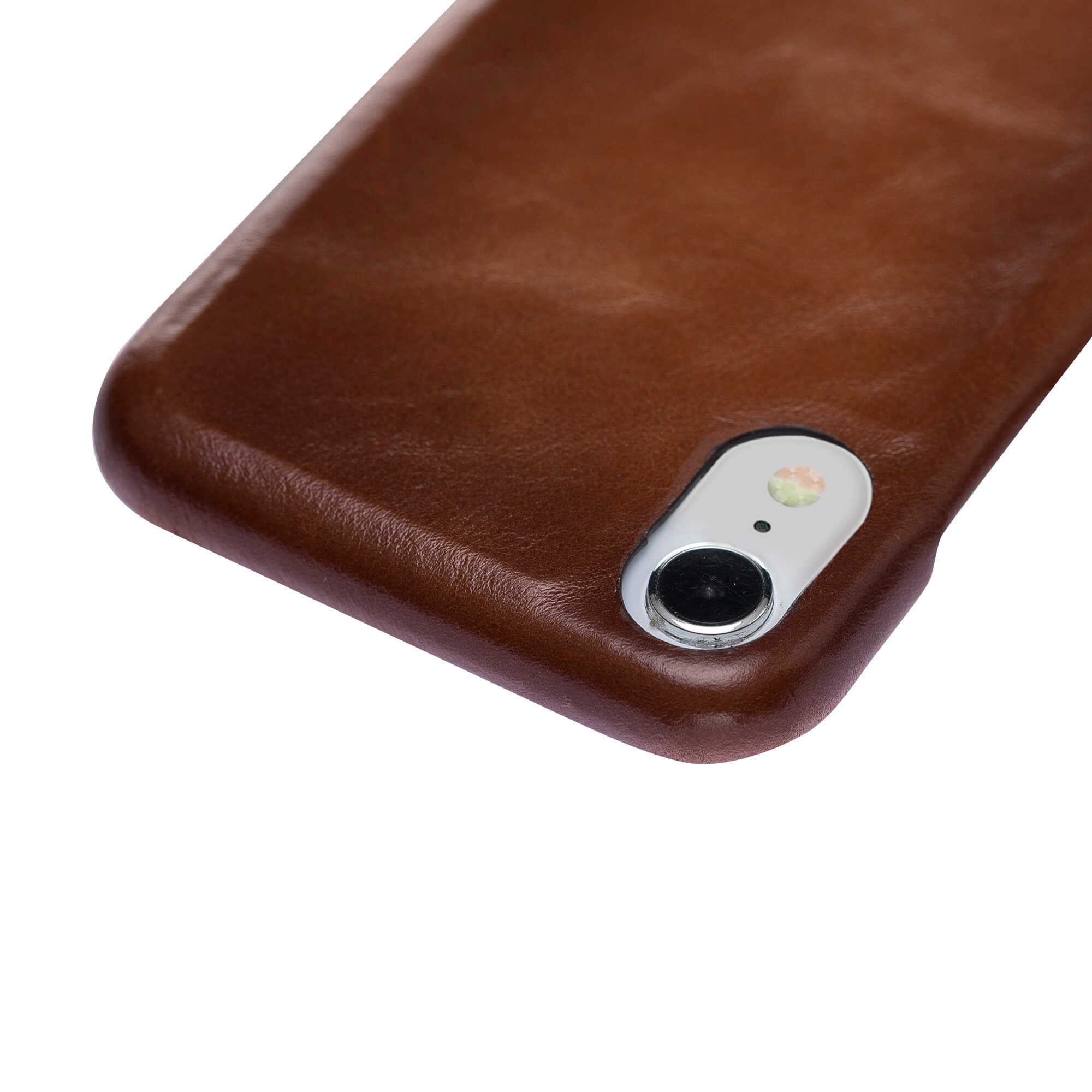iPhone XR Lederhülle - F360 Fullcover - in Cognac Braun Burned