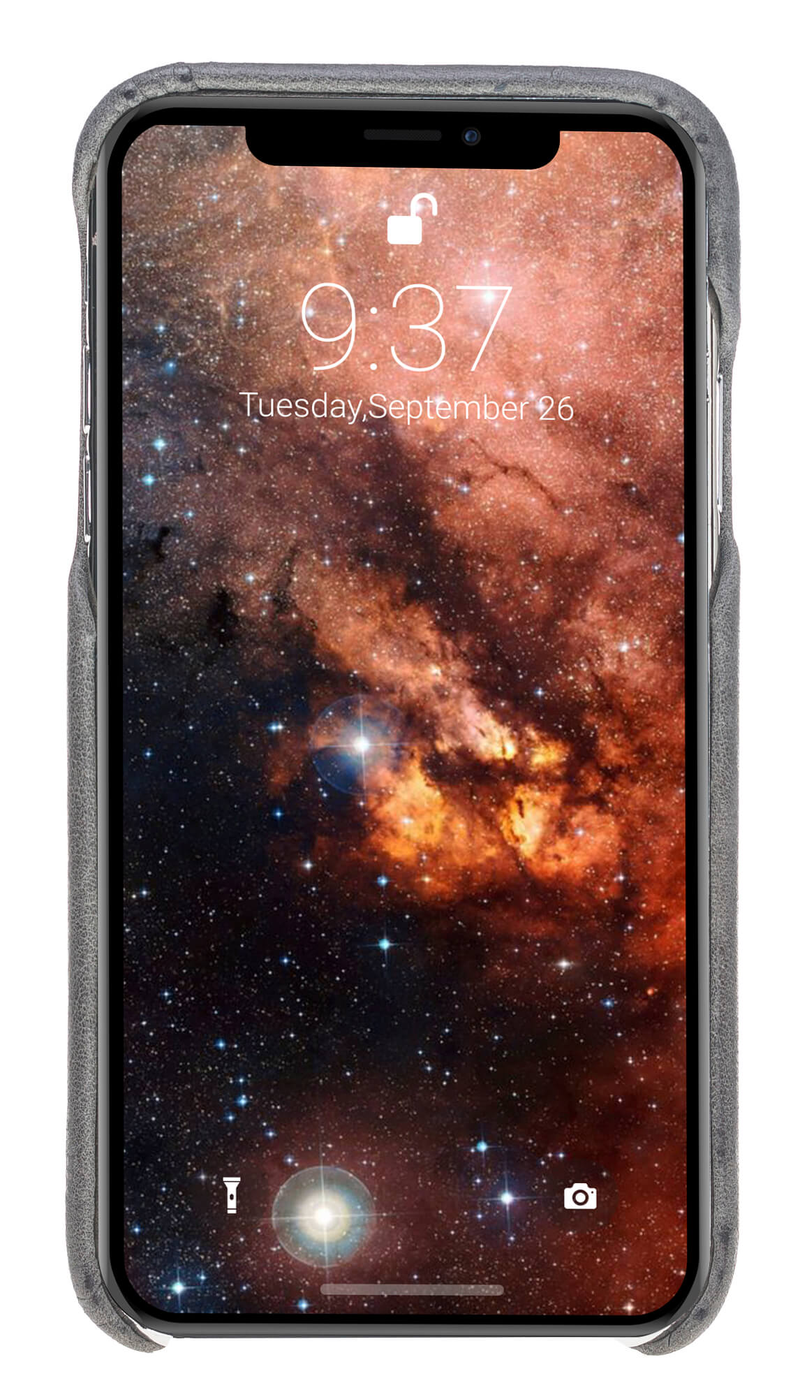 """iPhone XR Lederhülle - """"Princeton"""" - in Steingrau Burned"""