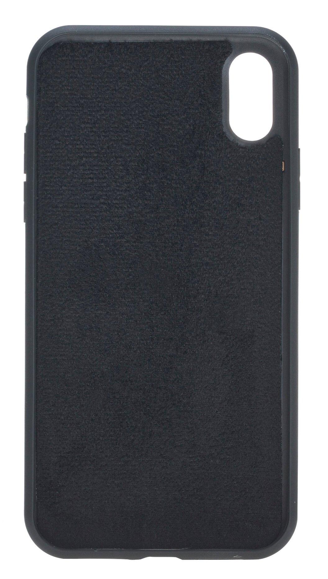 iPhone XR 6.1 Zoll Abnehmbare Lederhülle (2in1) in Krokoprägung Schwarz