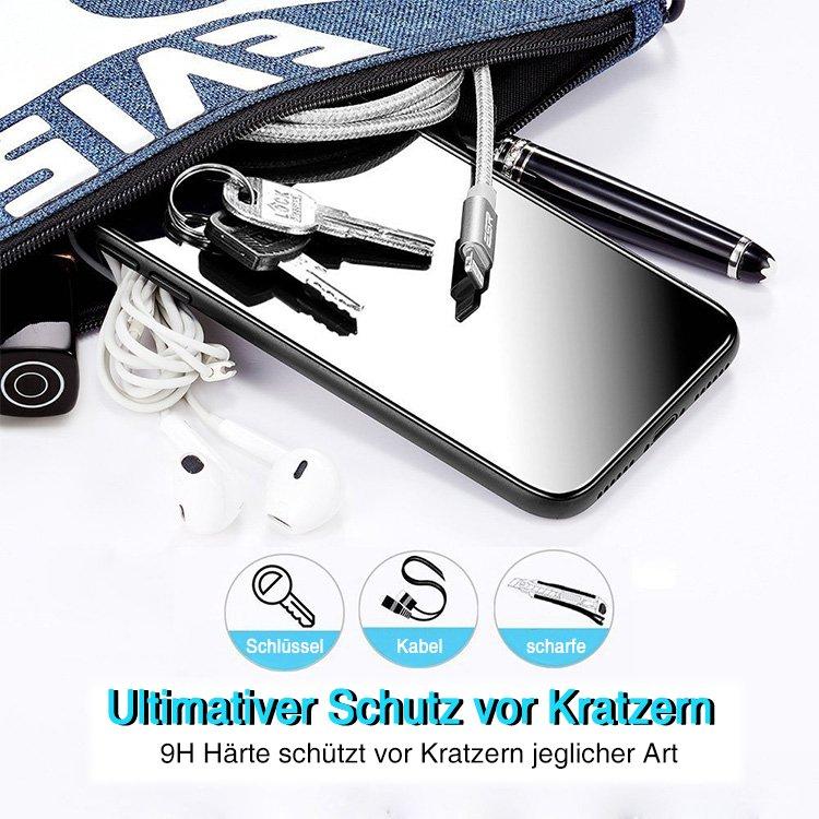 Solo Pelle Panzerglas Schutzfolie für iPhone XS Max, Displayschutzfolie mit Positionierhilfe, 9H Härte, Anti-Kratzen, Anti-Öl, Anti-Bläschen, [6.5 Zoll]