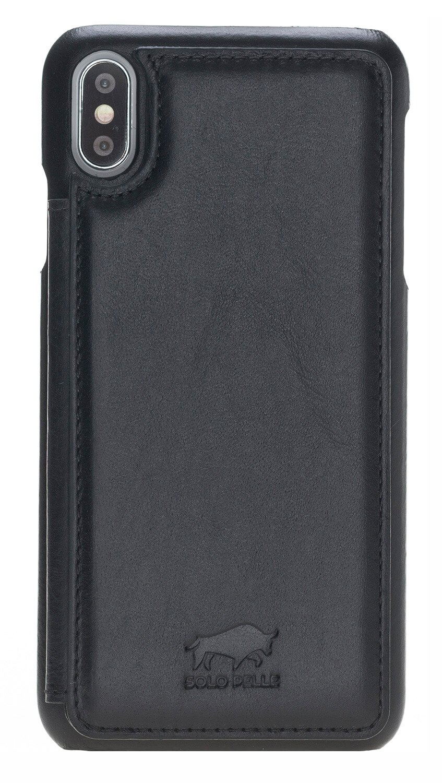 iPhone XS Max Ultra Back inkl. 3 Kartenfächer + Geldscheinfach in Schwarz