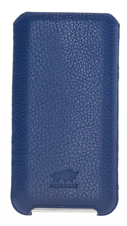 iPhone XR Hülle aus echtem Leder (Königsblau)