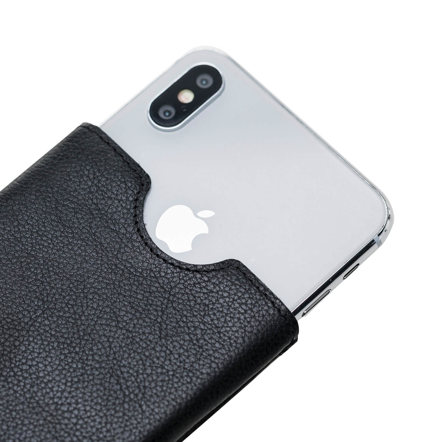 "iPhone 11 Pro Max & XS Max ""Bella"" Ledertasche aus Softleder in Schwarz"
