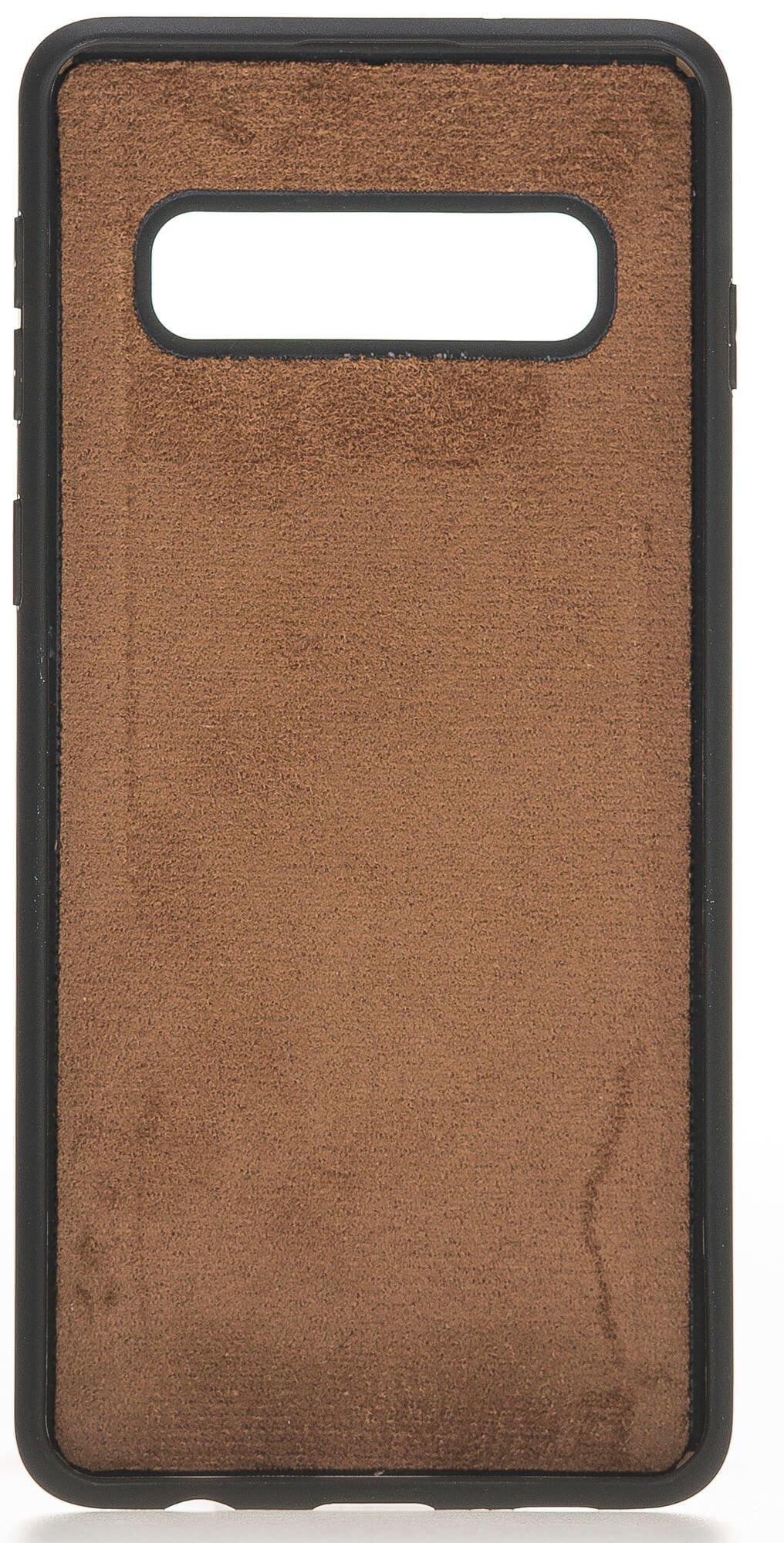 """Samsung S10+ """"Stanford"""" Leder Hülle Tasche Lederhülle Ledertasche Backcover in Vintage Braun"""