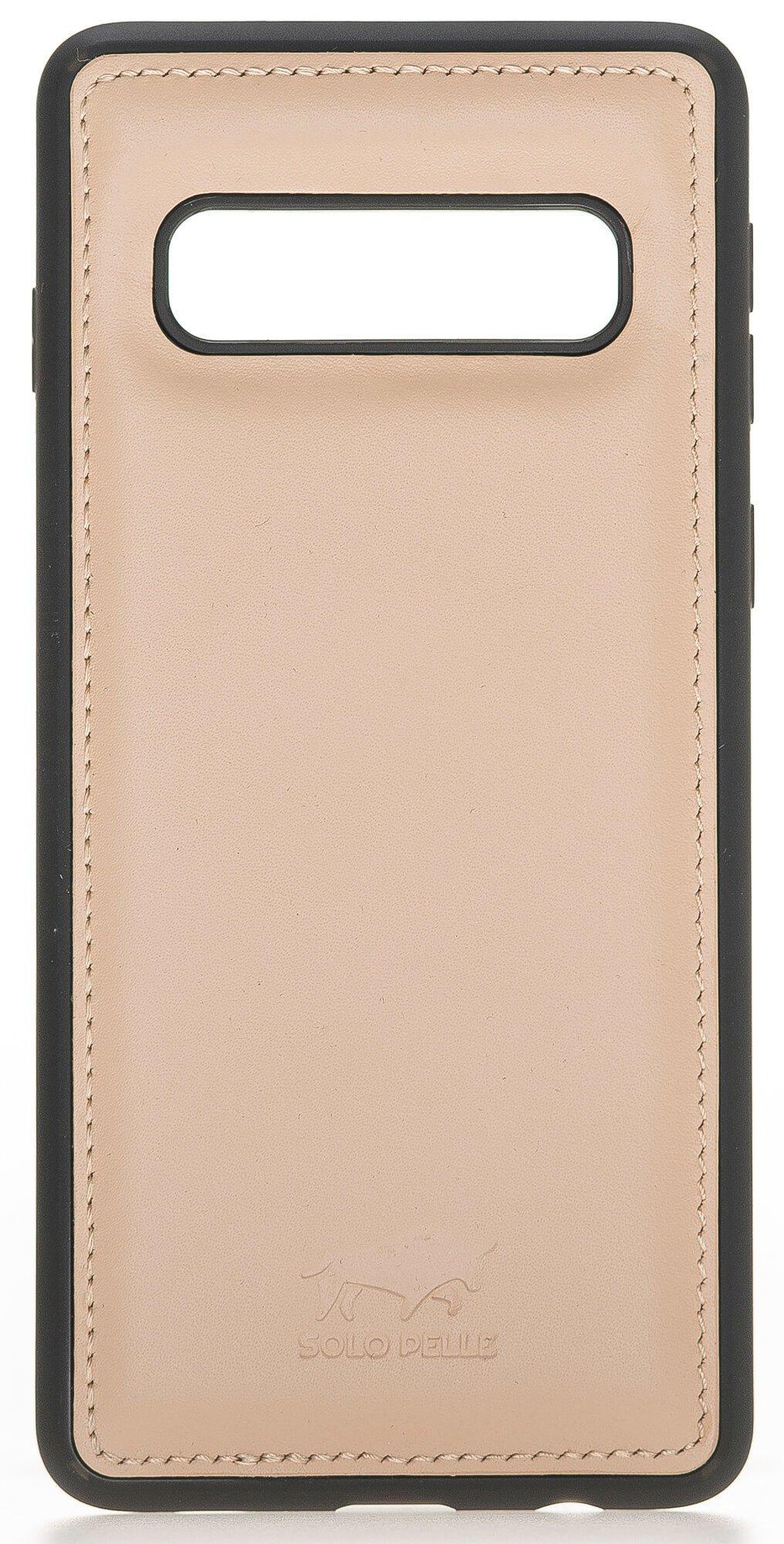 "Samsung S10 ""Flex"" Lederhülle in Nude Rosa"