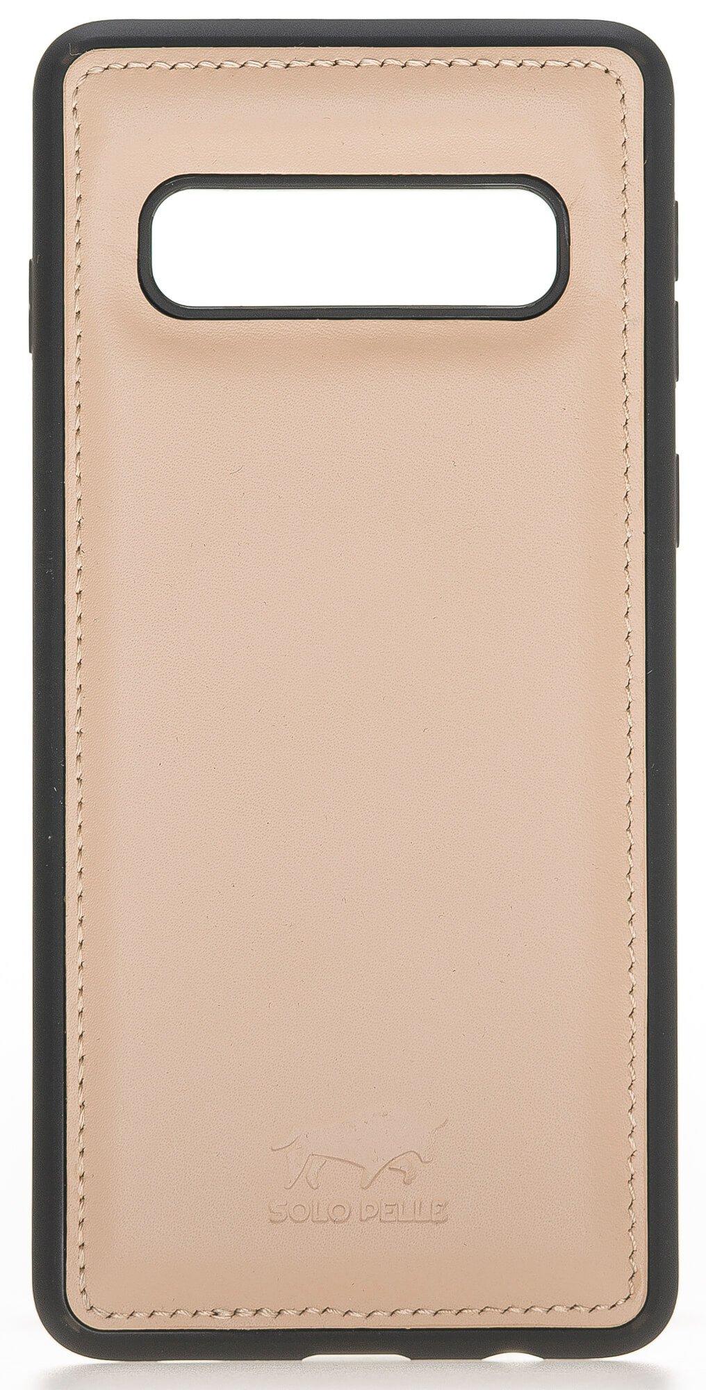 "Samsung S10 abnehmbare Lederhülle ""Harvard"" in Nude Rosa"