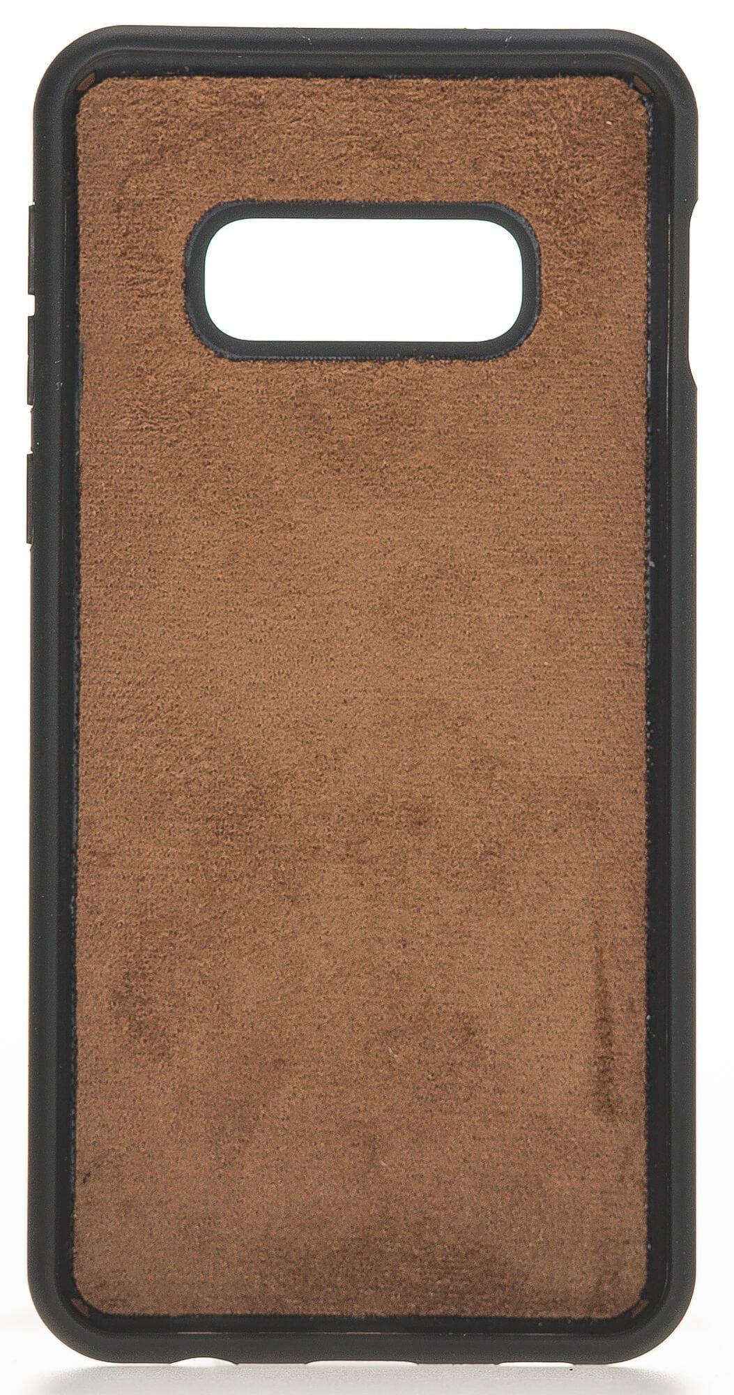 "Samsung S10e ""Stanford"" Lederhülle in Vintage Braun"