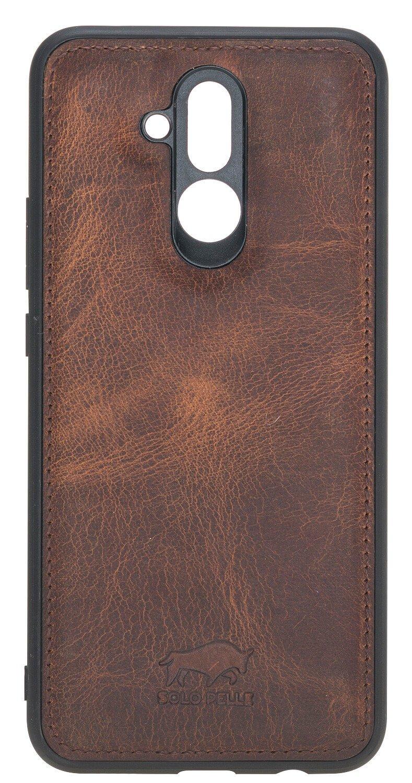 Lederhülle für das Huawei Mate 20 Lite in Vintage Braun