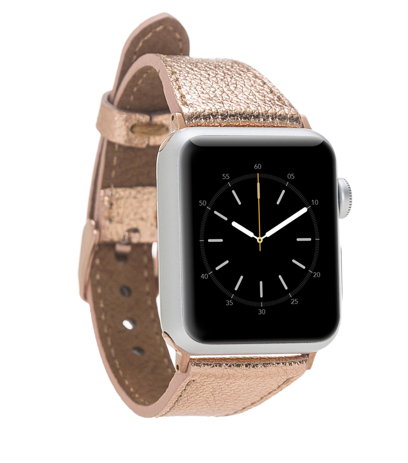 Lederarmband Lady für das Apple Watch Series 1-4 in 38/40mm Rosegold + Rose Connector