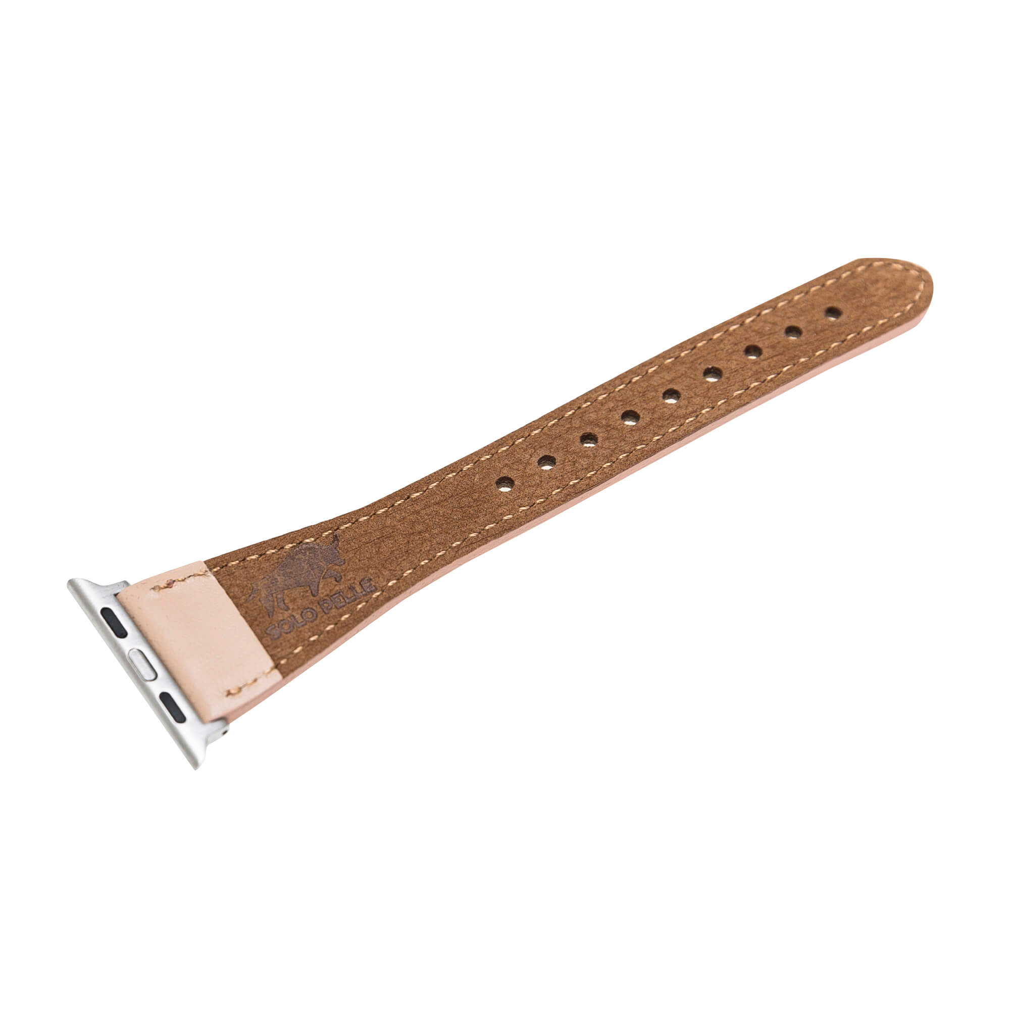 "Lederarmband ""Lady"" für das Apple Watch Series 1-4 in 38/40mm Nude Rosa"
