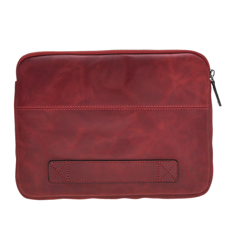 Solo Pelle Ledertasche für das Apple MacBook Air 11 Zoll & iPad Pro 10,5 & 11 Zoll und auch 9,7 Zoll Lederhülle Case Hülle Awenta aus echtem Leder in Rot Burned