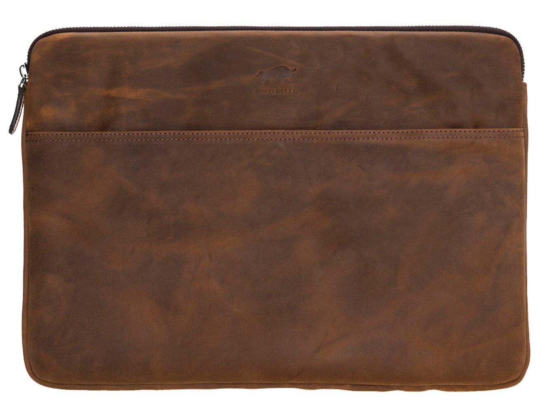 Solo Pelle Ledertasche für das Apple MacBook Pro und Air 13 Zoll, 12 Zoll & iPad Pro 12,9 Zoll Lederhülle Case Hülle Awenta aus echtem Leder in Vintage Braun