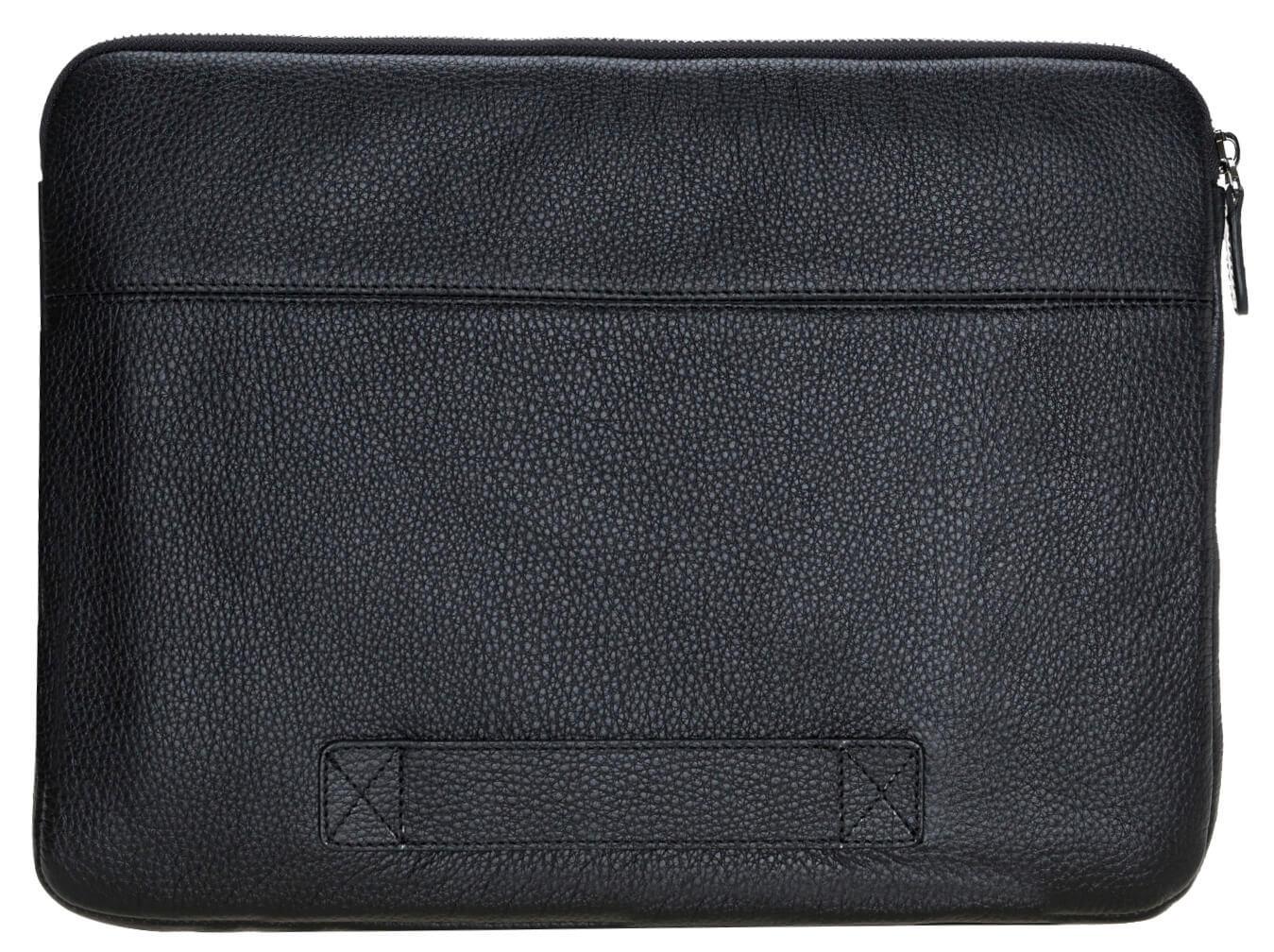 """Ledertasche für das Apple MacBook Pro 15/16 Zoll """"Awenta"""" Tasche aus echtem Leder in Schwarz"""