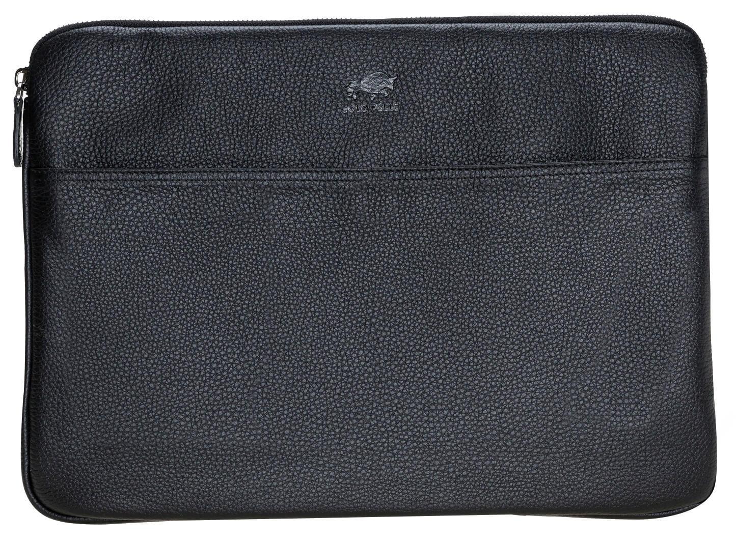 Solo Pelle Ledertasche für das Apple MacBook Pro und Air 13 Zoll, 12 Zoll & iPad Pro 12,9 Zoll Lederhülle Case Hülle Awenta aus echtem Leder in Schwarz