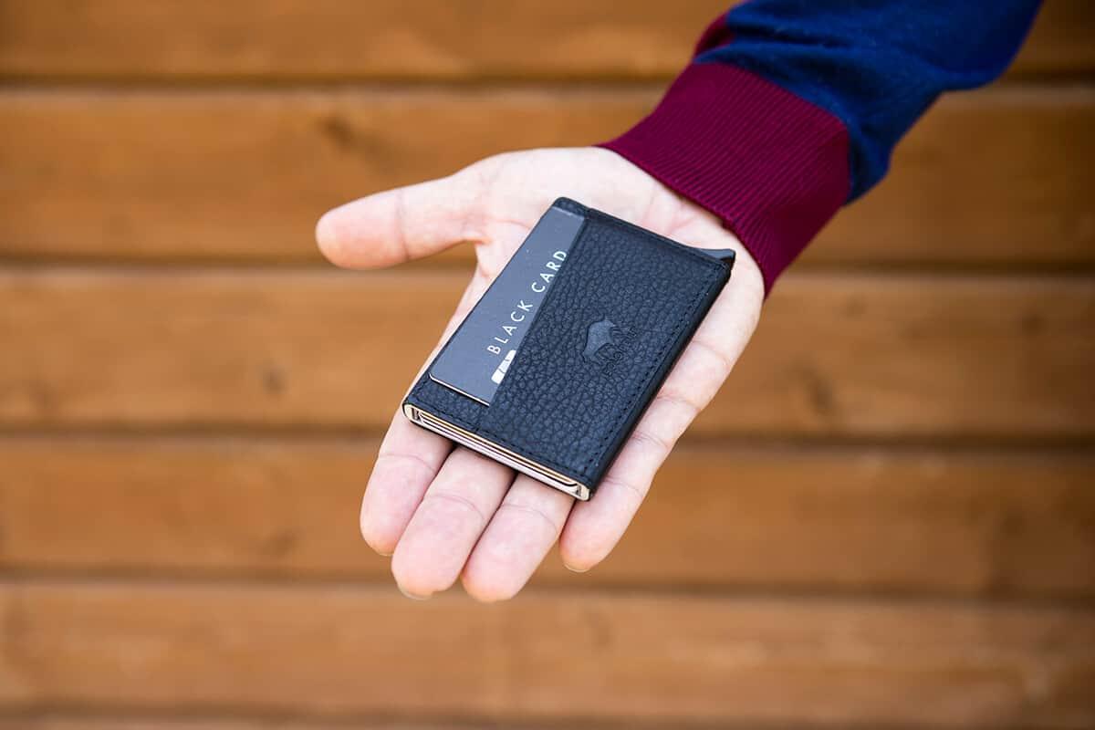 """Kreditkartenetui """"Mech"""" mit RFID Schutz in Cognac Braun Burned"""