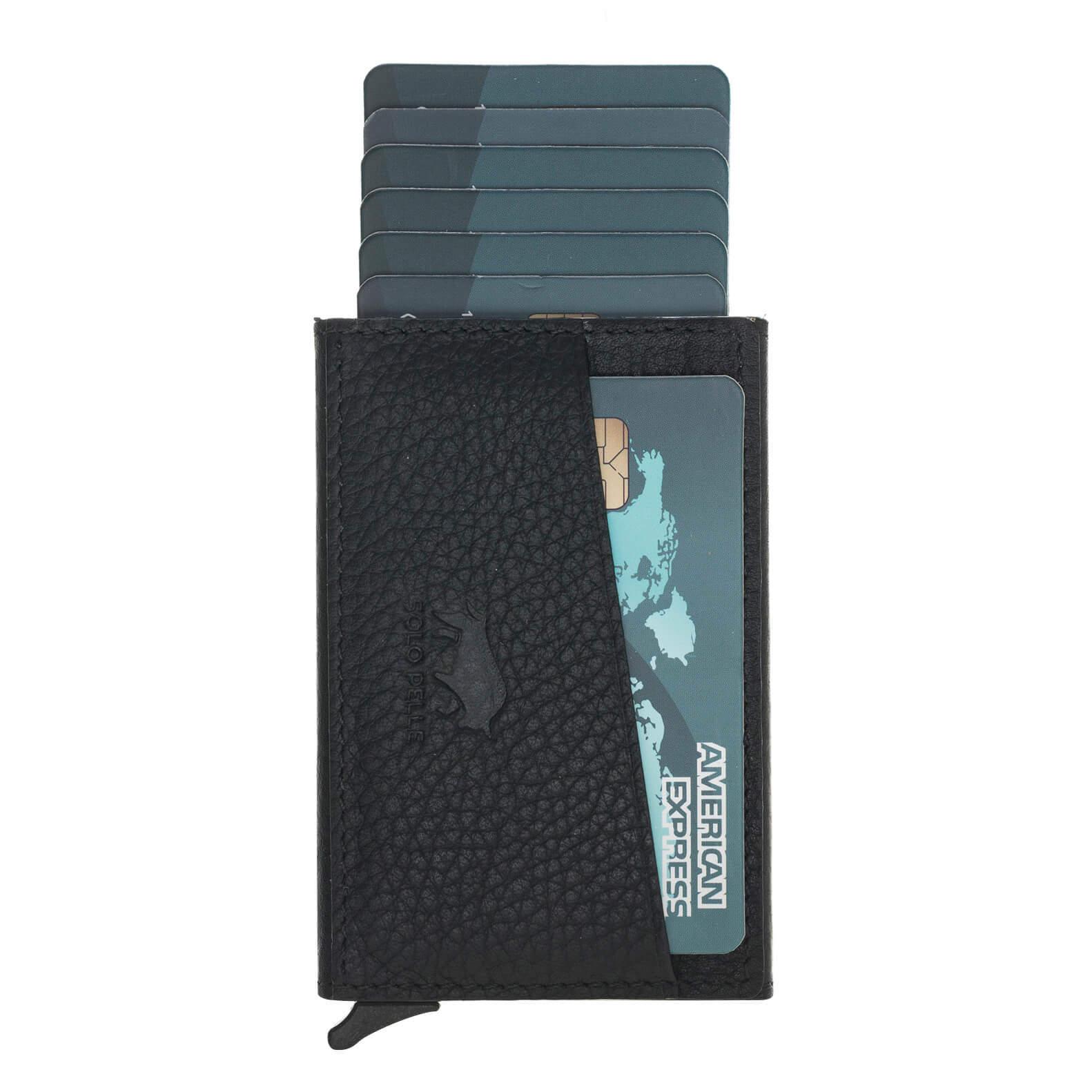"""Kreditkartenetui """"Mech"""" mit RFID Schutz in Steingrau"""