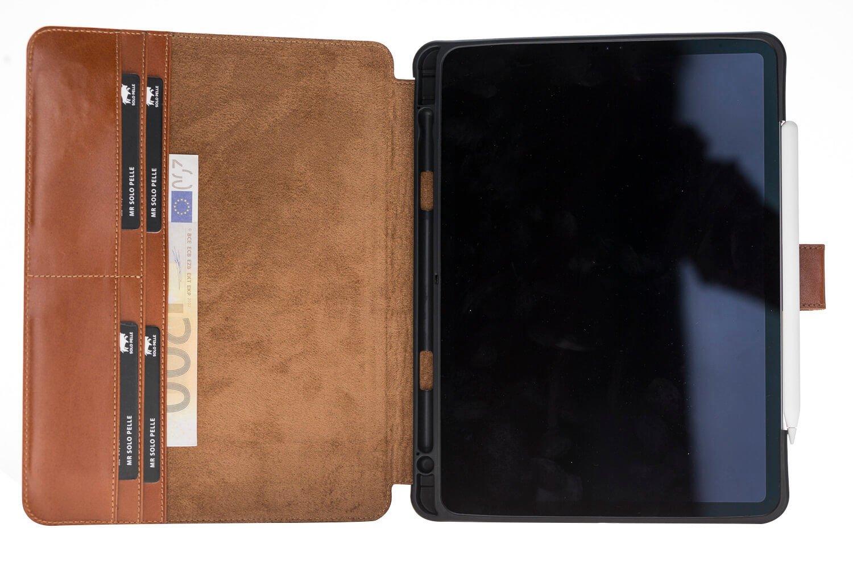 """Solo Pelle Lederhülle Miami geeignet für Apple iPad Pro 11"""" 2018 Hülle Leder Case in Schwarz aus echtem Leder. Unterstützt Pencil 2 und magnetisches Laden"""