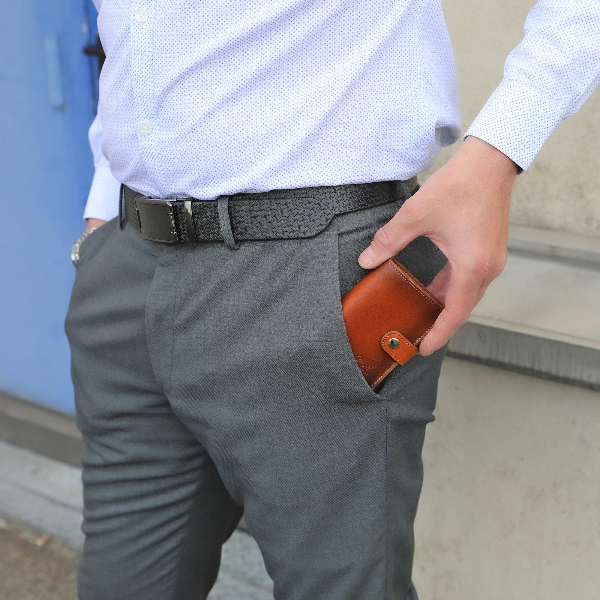 Leder Geldbörse Q-Wallet mit integriertem Kartenetui für 15 Karten + Geldscheine geeignet | Kreditkartenetui mit RFID (Cognac Braun Burned)