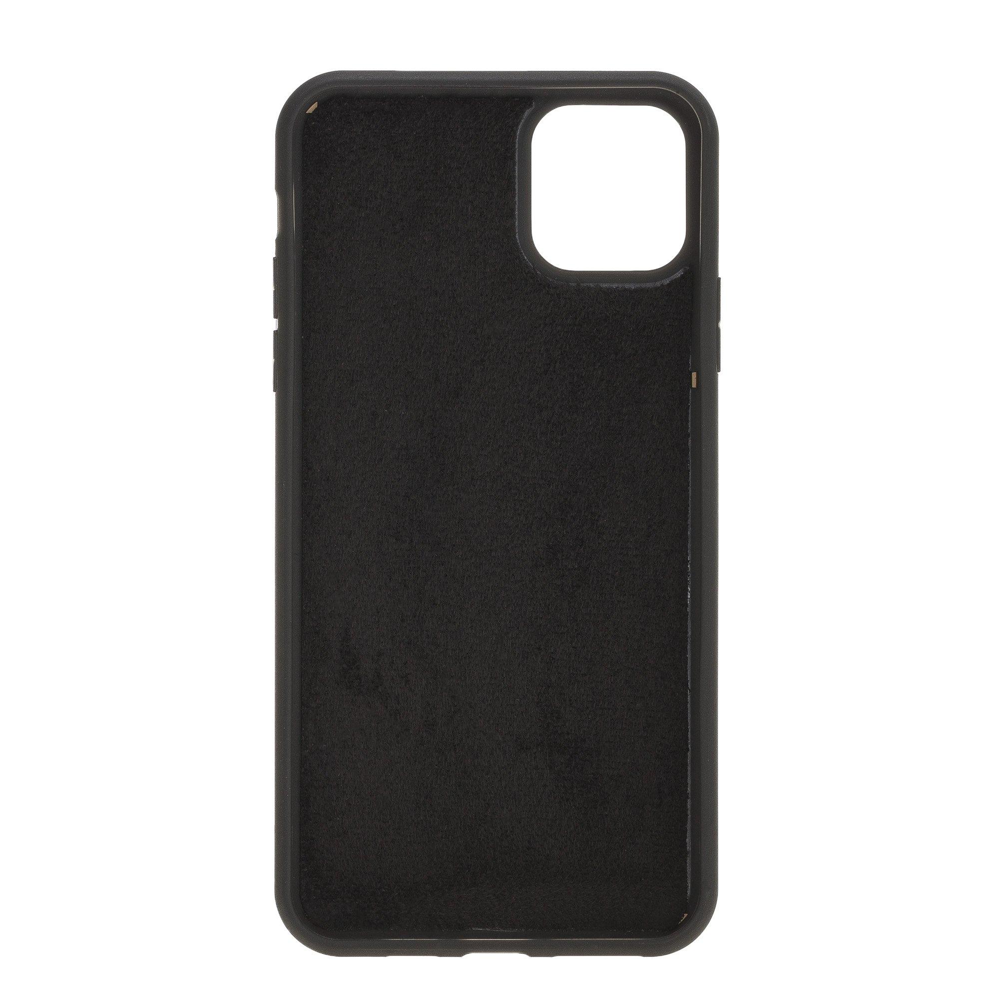 Solo Pelle Lederhülle für das iPhone 11 Pro (Max) 6.5 Zoll Stanford Case Leder Hülle Ledertasche Backcover aus echtem Leder (Schwarz)