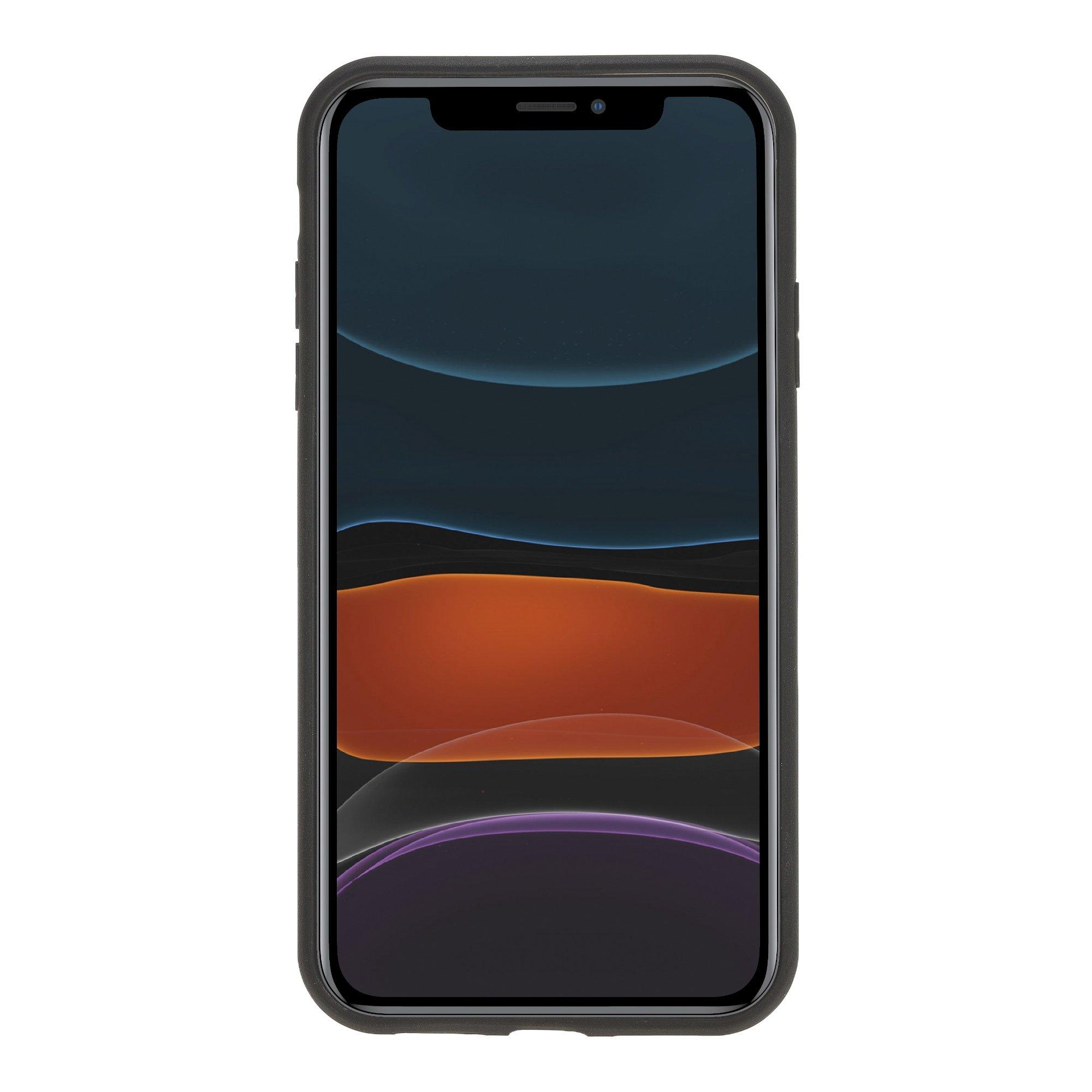 Solo Pelle Lederhülle für das iPhone 11 (XI) 6.1 Zoll Stanford (Carbonprägung)