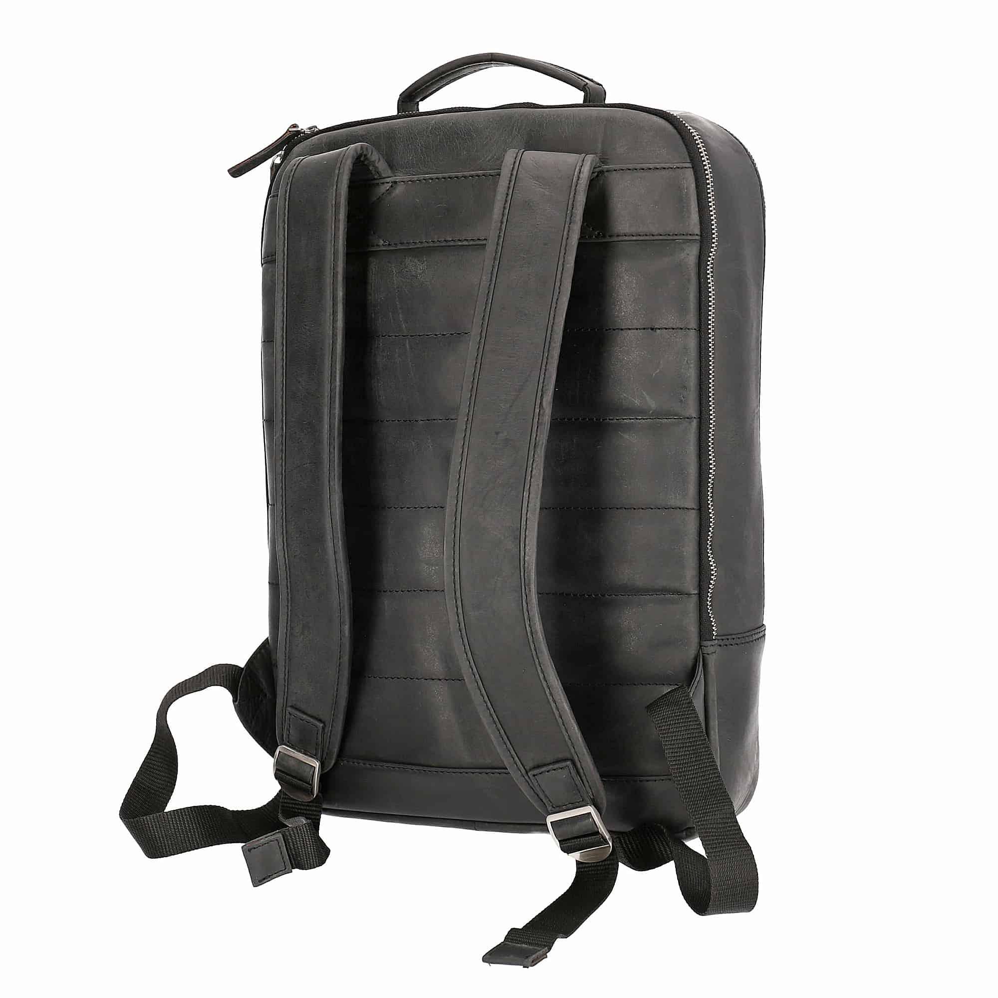 Solo Pelle Leder Rucksack I Backpack I Jeremy (Vintage Schwarz)