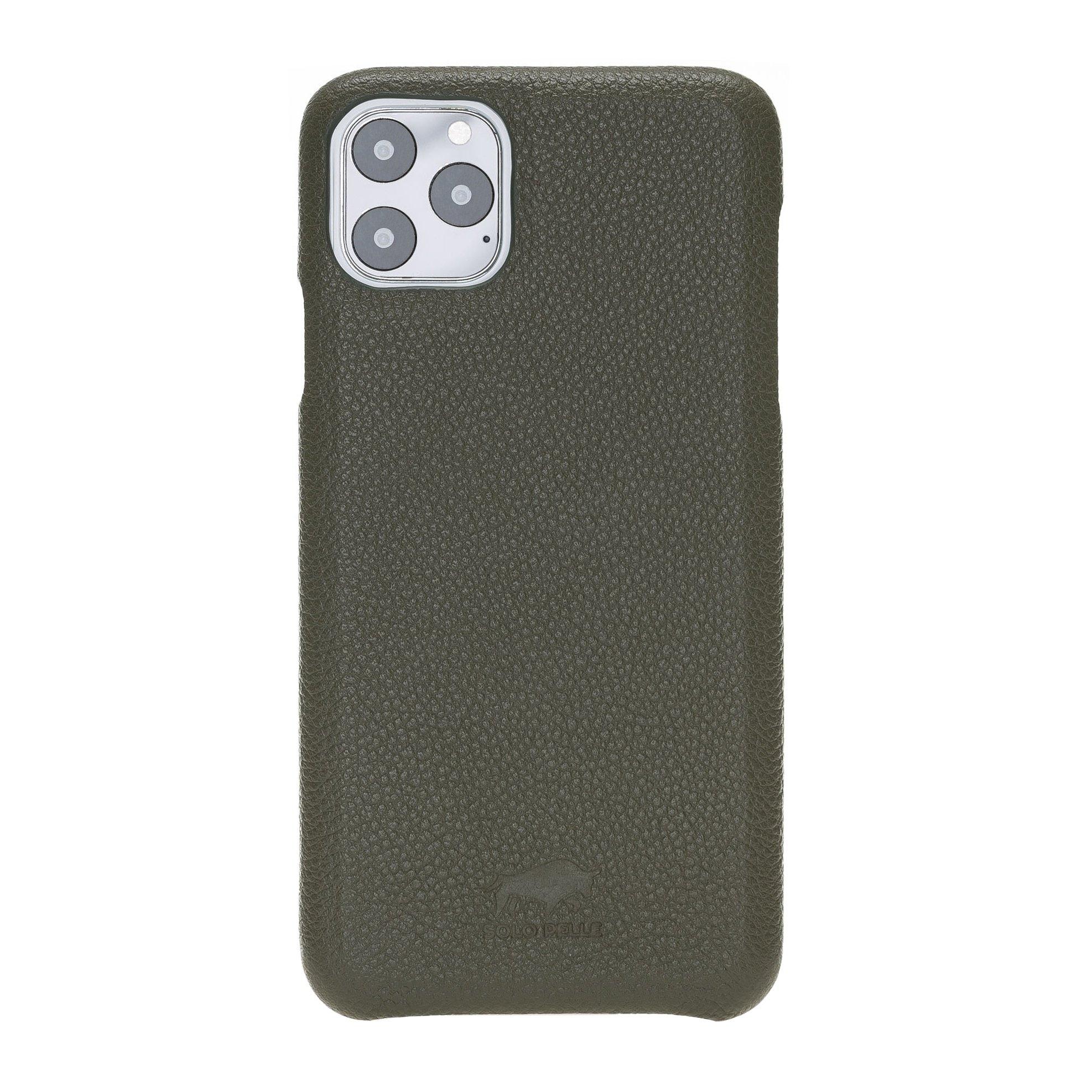 Solo Pelle Lederhülle für das iPhone 11 Pro (Max) 6.5 Zoll Stanford (Vollleder Nachtgrün)
