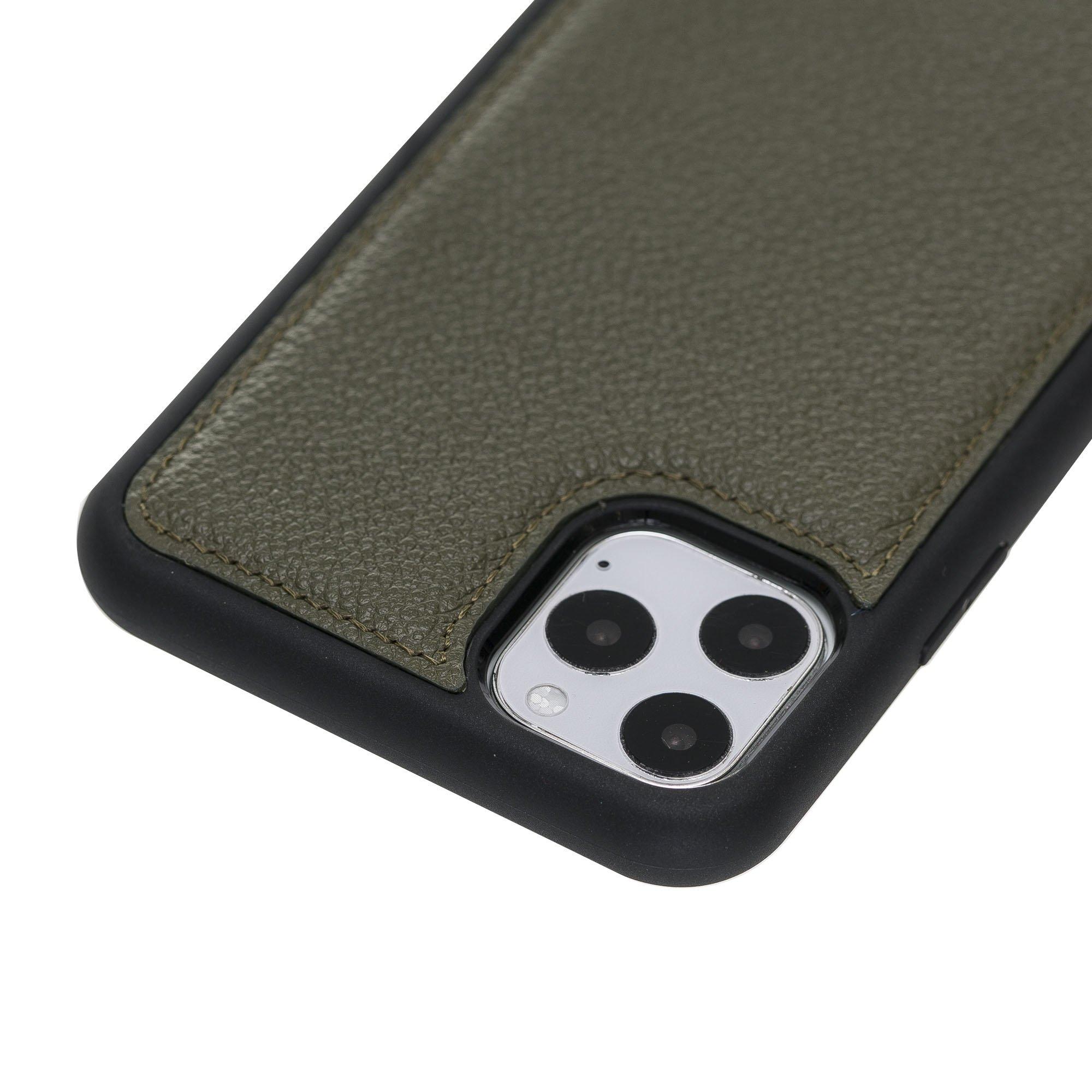 Solo Pelle Lederhülle für das iPhone 11 Pro (Max) 6.5 Zoll Stanford (Nachtgrün)
