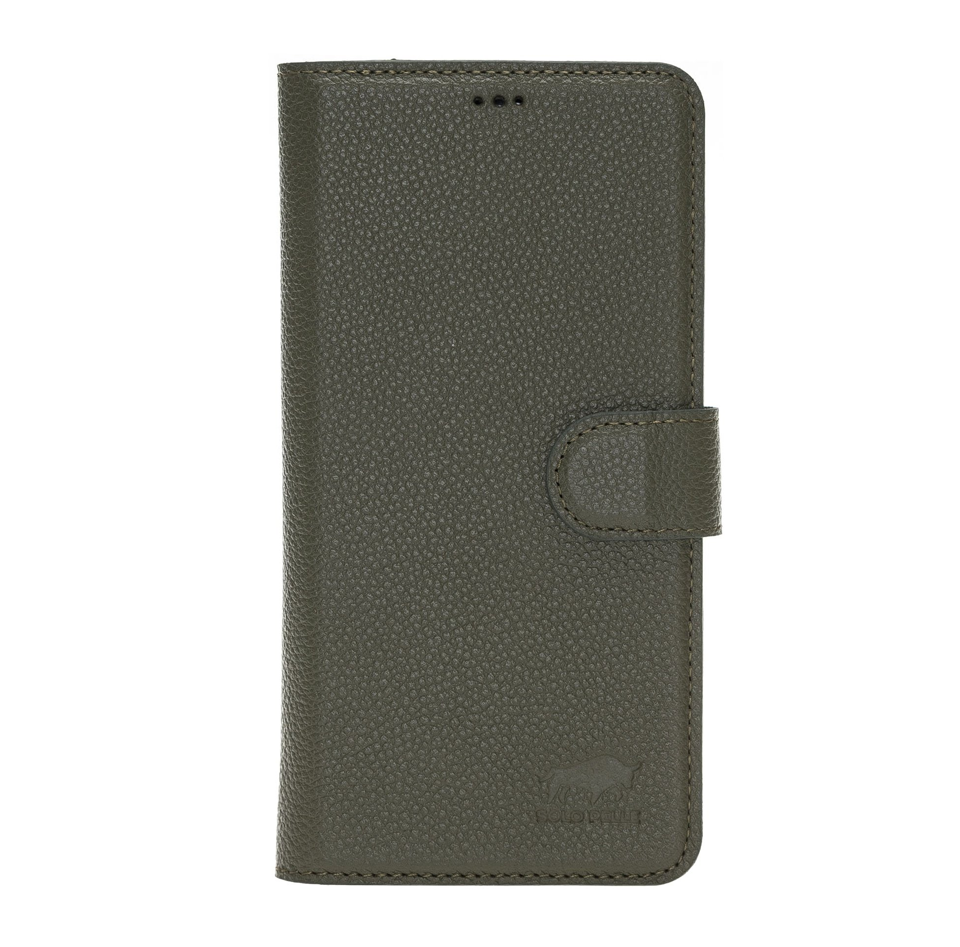 Solo Pelle Lederhülle kompatibel für iPhone 11 Pro Max 6.5 Zoll abnehmbare Hülle (2in1) (Nachtgrün)