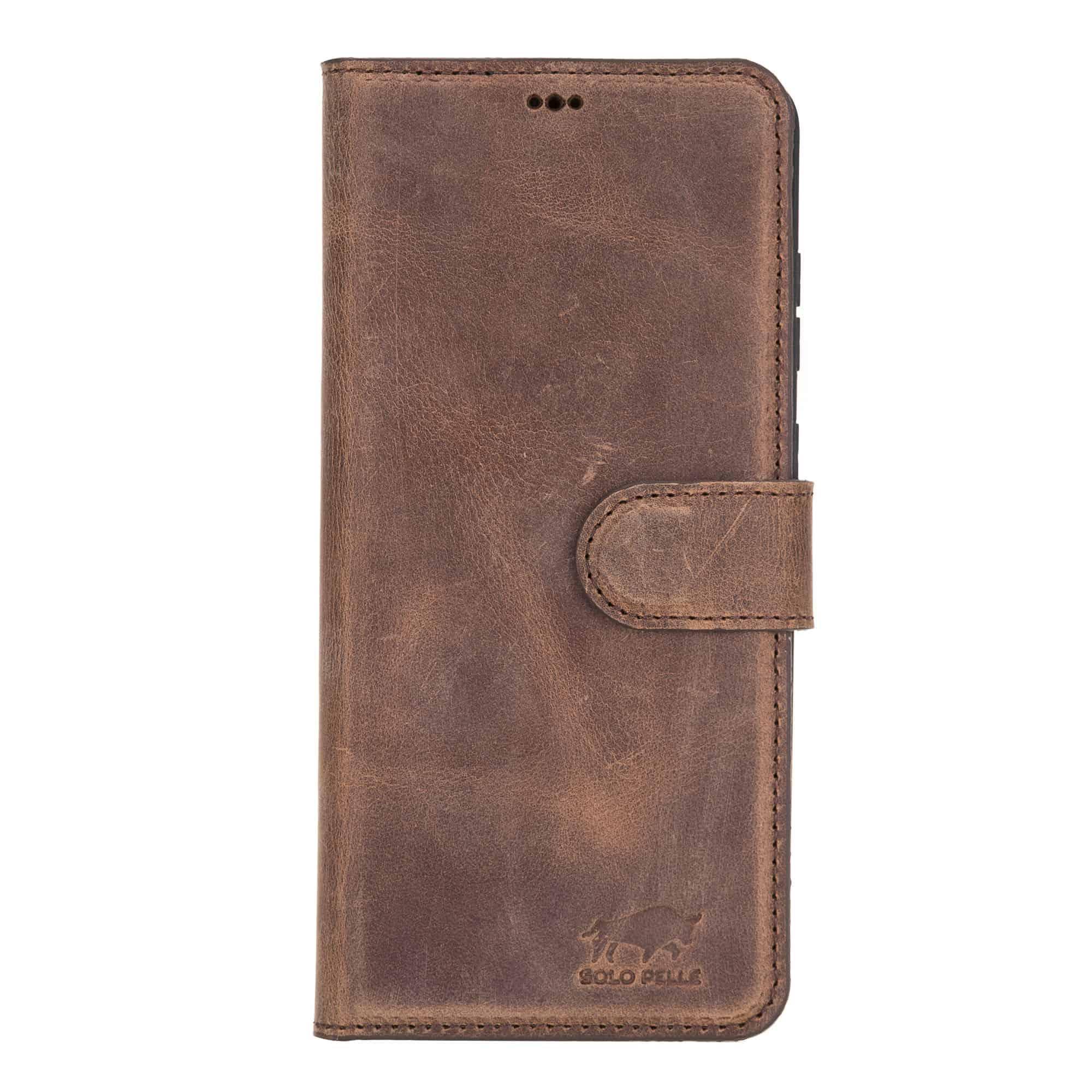 Lederhülle Harvard für das Samsung Galaxy S20+ | S20 Plus 5G (Vintage Braun)
