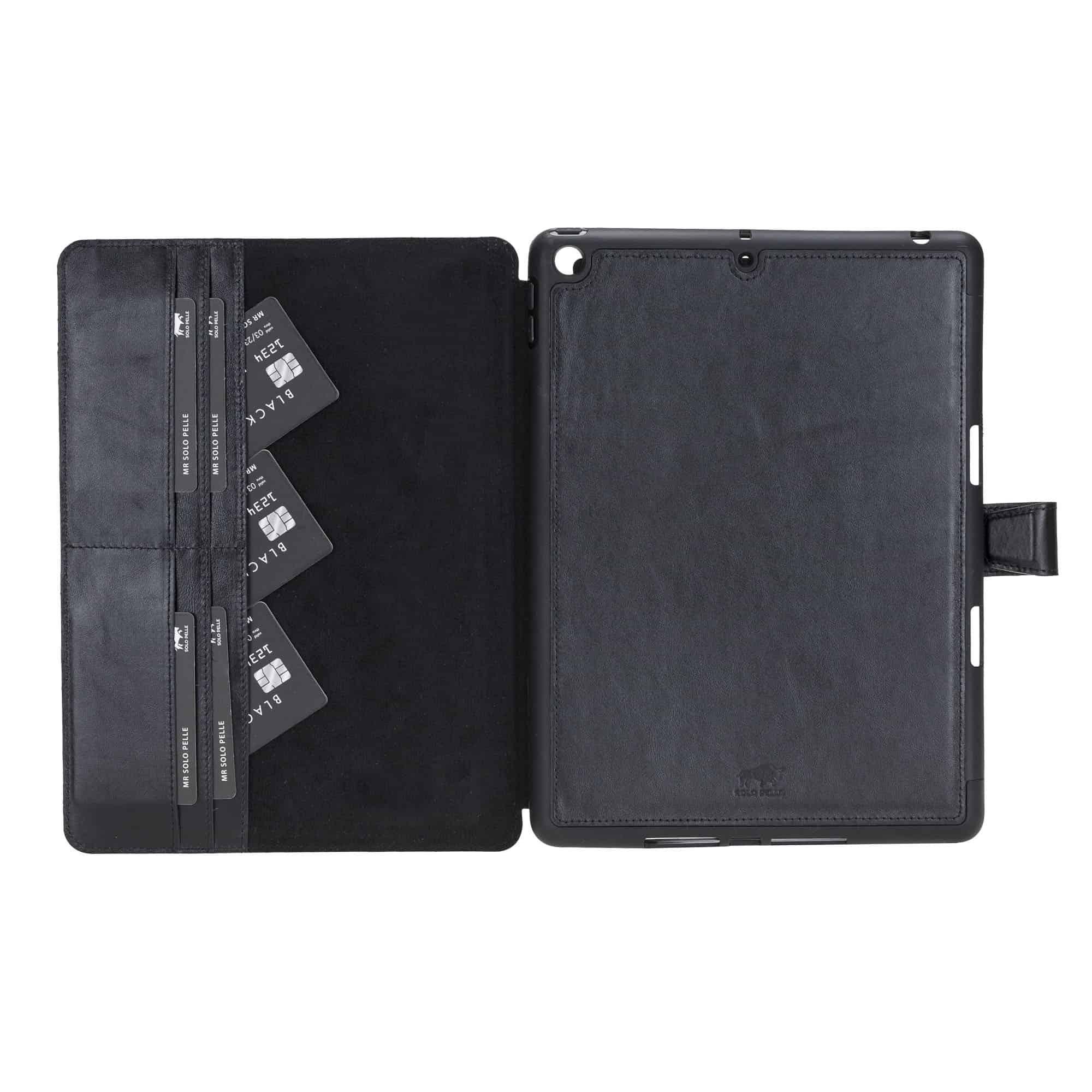 Magnetische abnehmbare Hülle für Apple iPad 10,2 Zoll (7 + 8 Generation ) in Schwarz