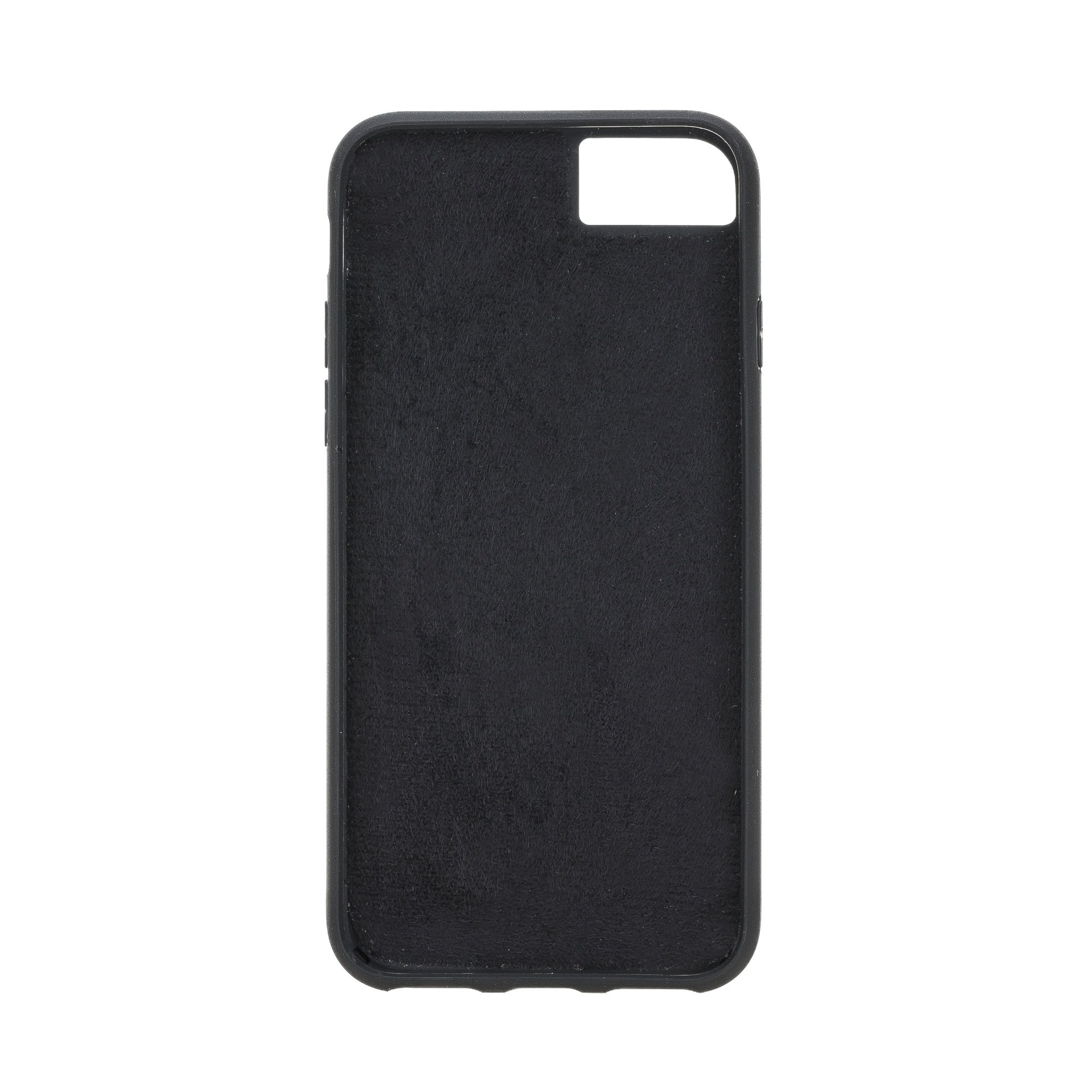 Solo Pelle iPhone SE 2020 / 7 / 8 abnehmbare Lederhülle (2in1) inkl. Kartenfächer für das original iPhone 7/8 (Matt Schwarz)