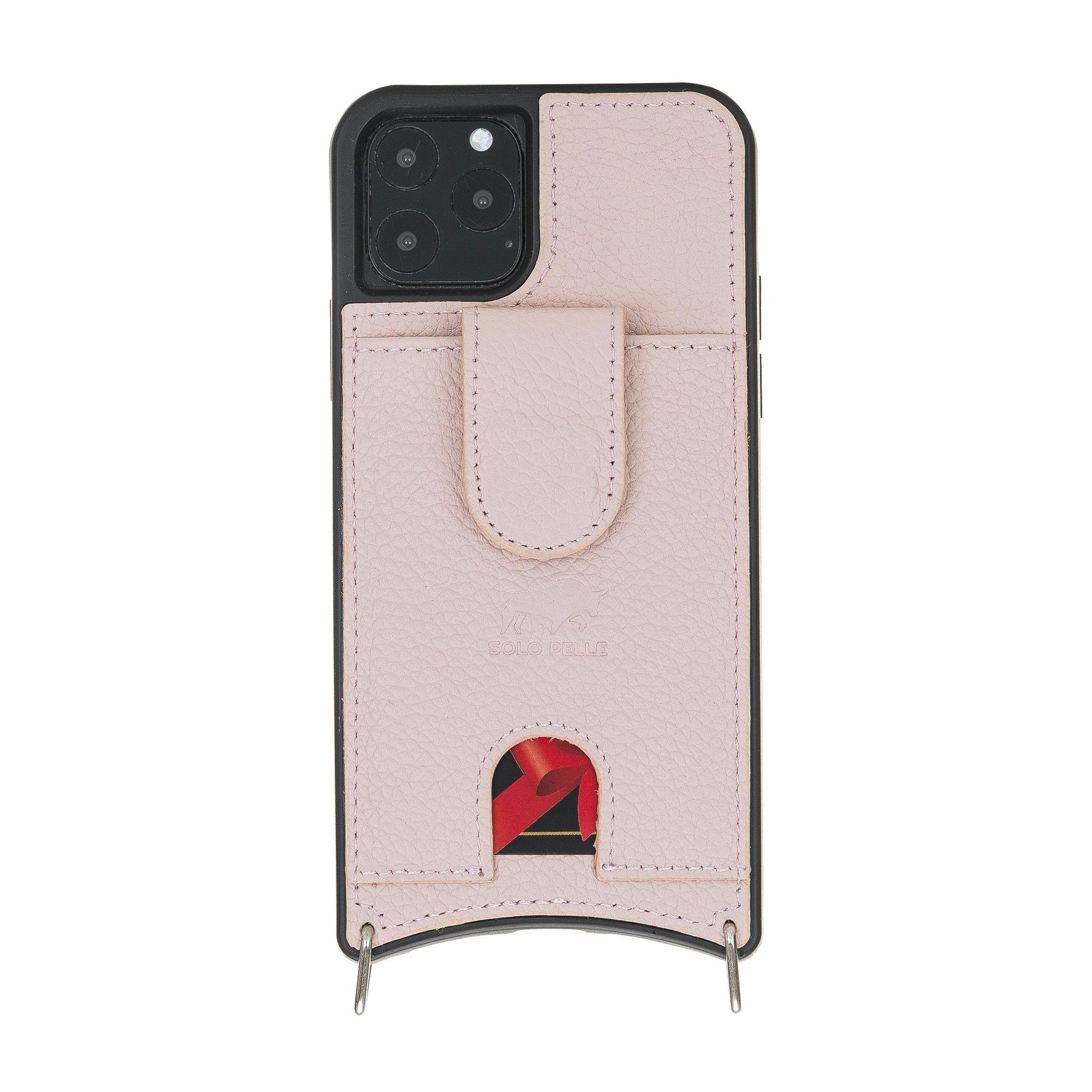 """Lederhülle """"Necklace"""" für das iPhone 11 Pro in 5.8 Zoll in Rosé (inkl.Umhängeriemen)"""