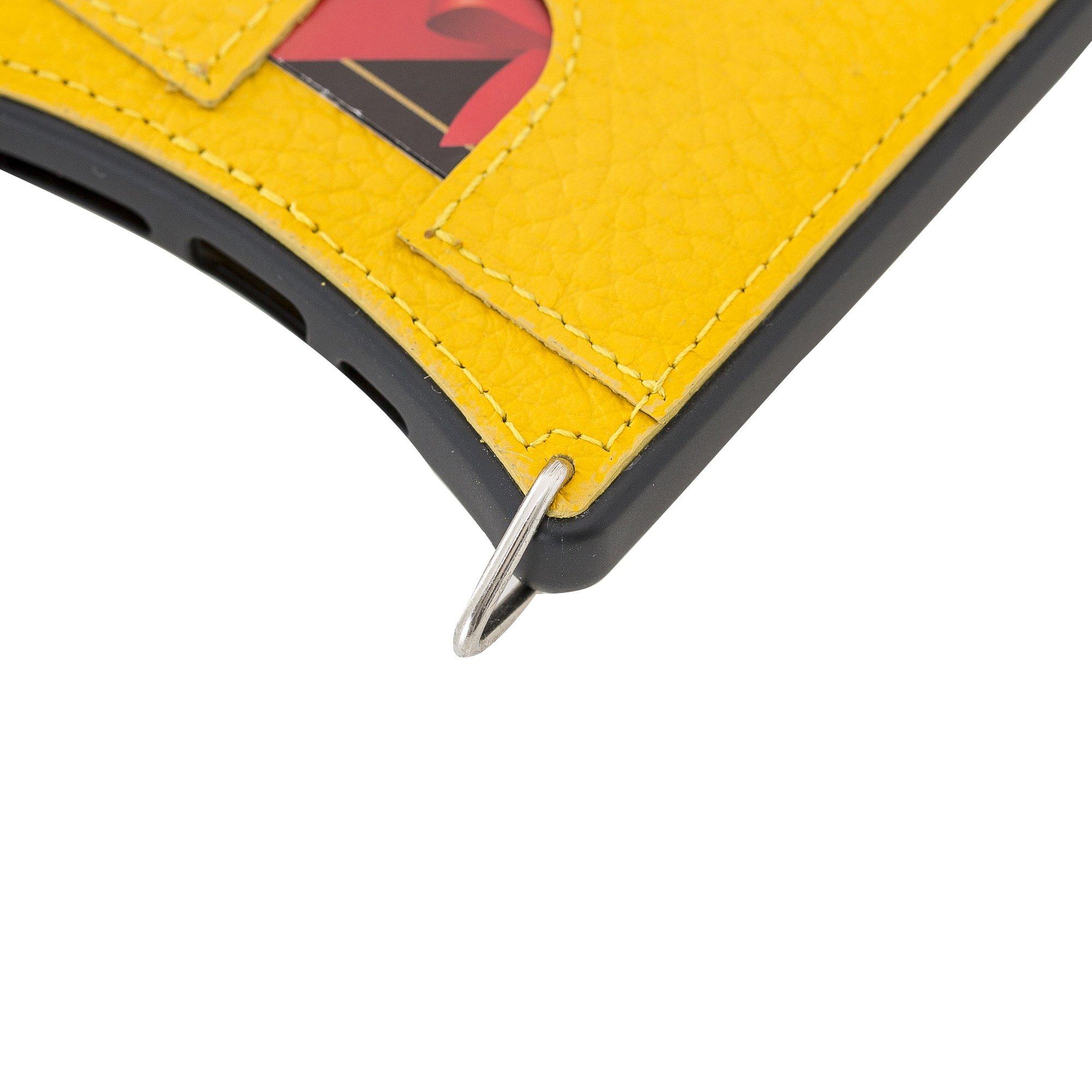 """Lederhülle """"Necklace"""" für das iPhone 11 Pro in 5.8 Zoll in Sonnengelb (inkl.Umhängeriemen)"""