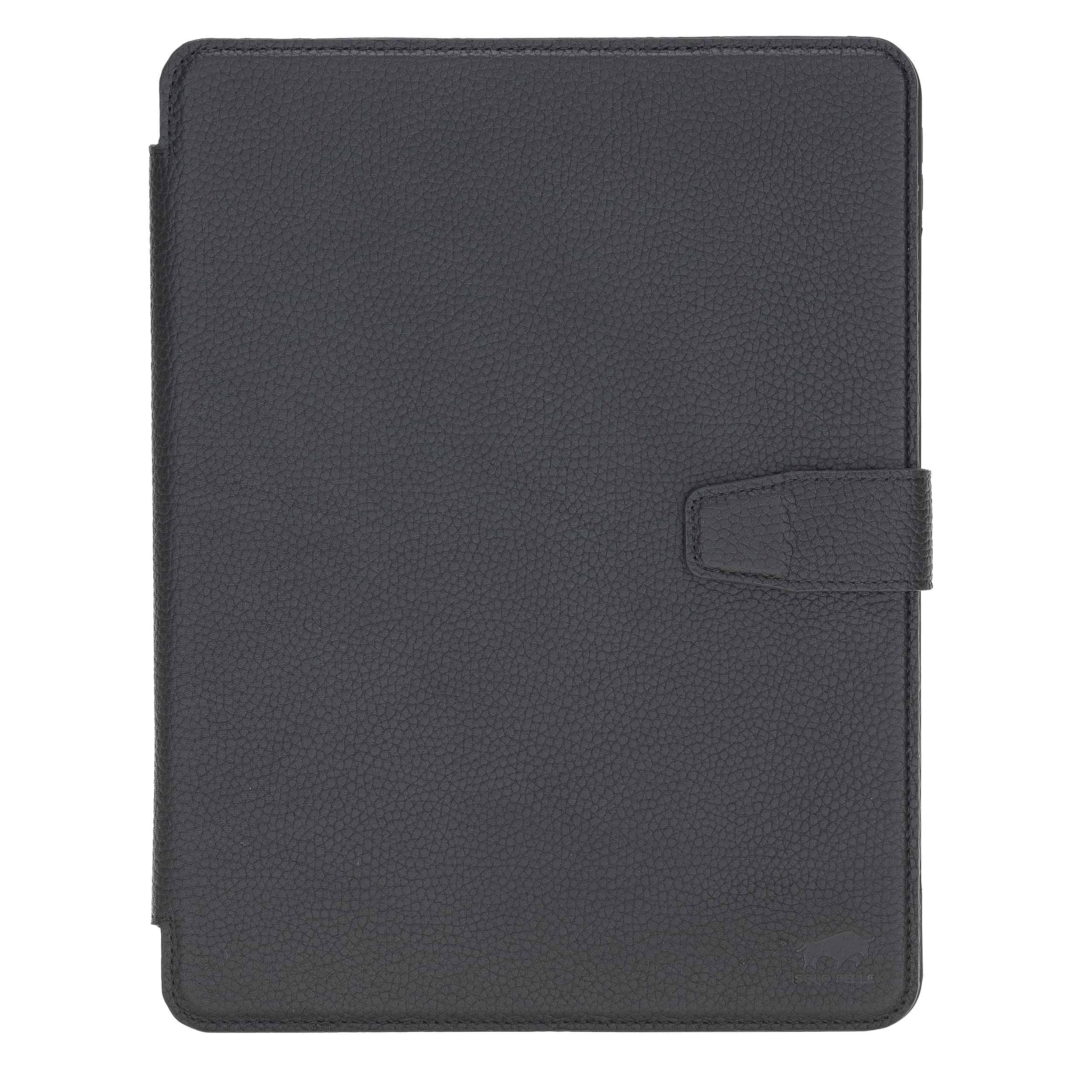 """Solo Pelle magnetische abnehmbare Hülle geeignet für Apple iPad Pro 11"""" 2020 Hülle Echtleder Case aus echtem Leder. Unterstützt Pencil 2 und magnetisches Laden (Matt Schwarz)"""