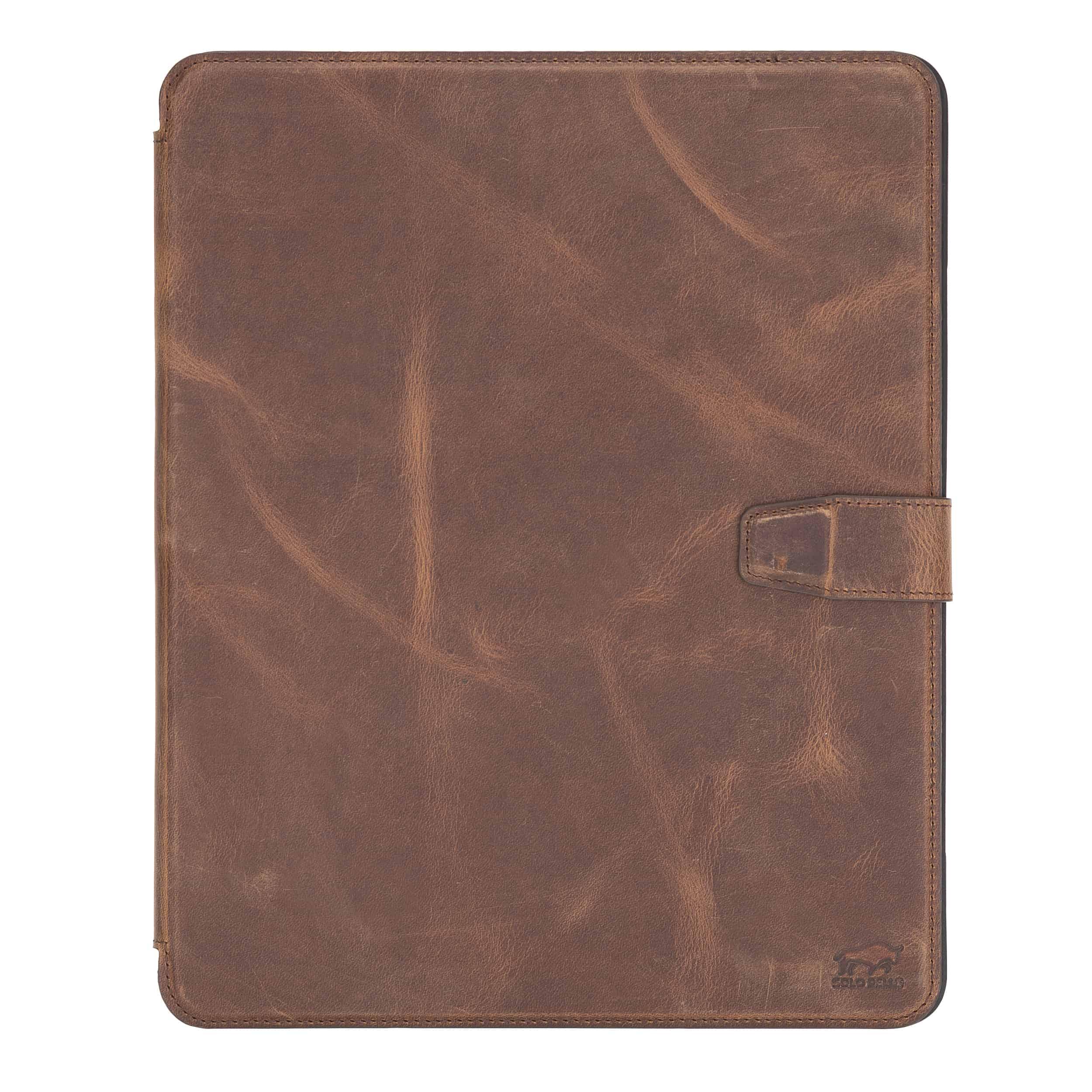 """Solo Pelle magnetische abnehmbare Hülle geeignet für Apple iPad Pro 12,9"""" 2020 Hülle Echtleder Case aus echtem Leder. Unterstützt Pencil 2 und magnetisches Laden (Vintage Braun)"""