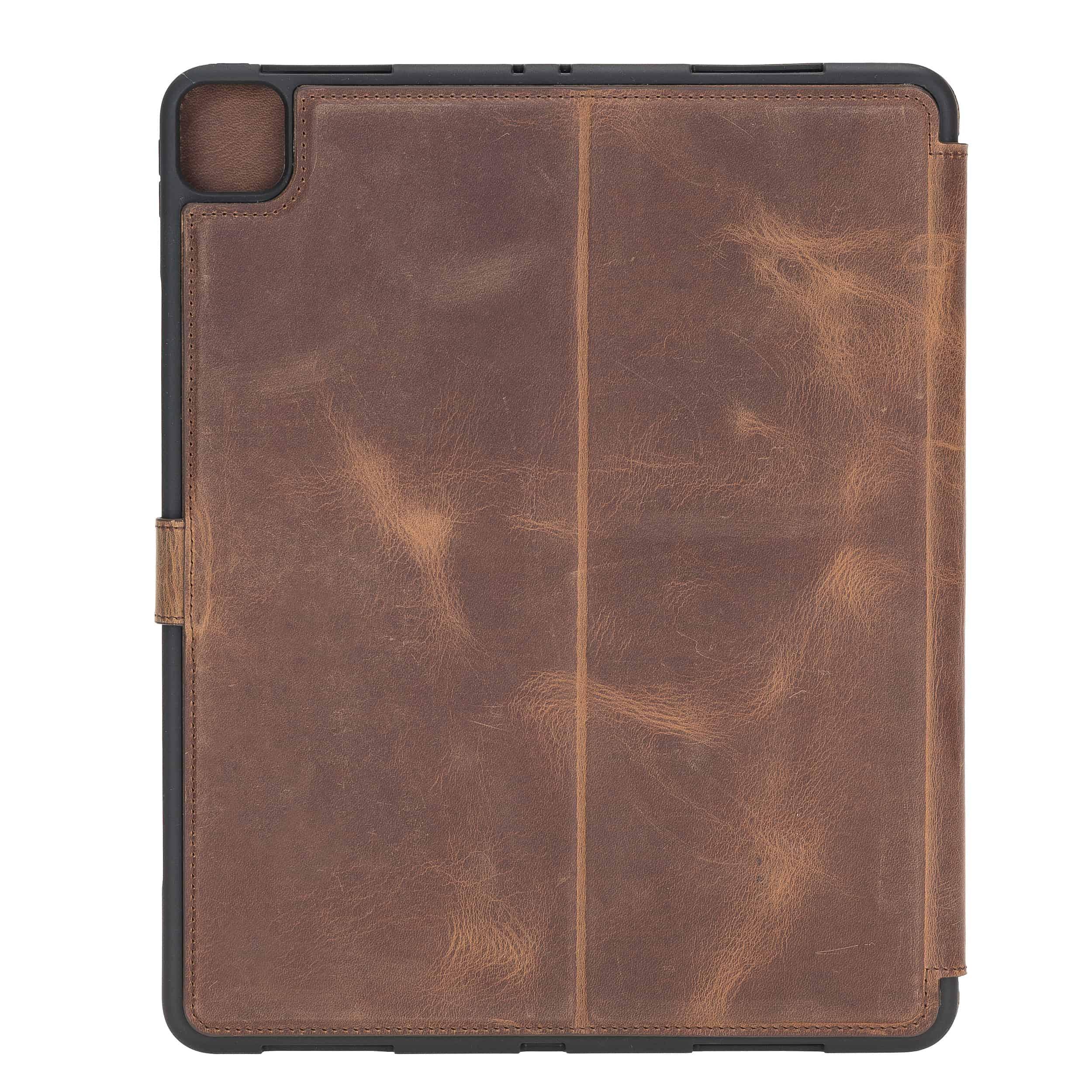"""Solo Pelle magnetische abnehmbare Hülle geeignet für Apple iPad Pro 11"""" 2020 Hülle Echtleder Case aus echtem Leder. Unterstützt Pencil 2 und magnetisches Laden (Vintage Braun)"""