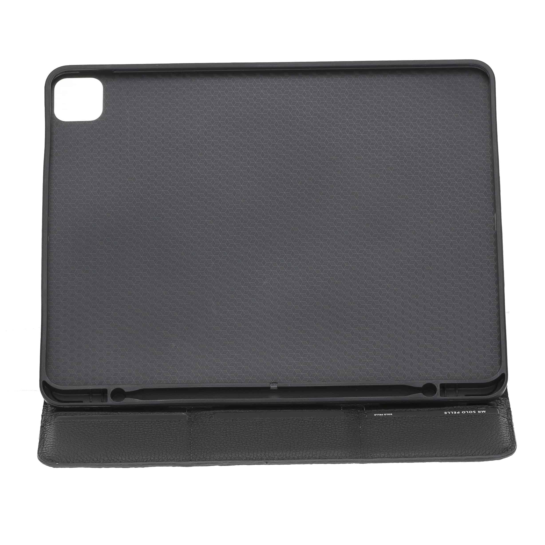 """Solo Pelle magnetische abnehmbare Hülle geeignet für Apple iPad Pro 12,9"""" 2020 Hülle Echtleder Case aus echtem Leder. Unterstützt Pencil 2 und magnetisches Laden (Schwarz Matt)"""