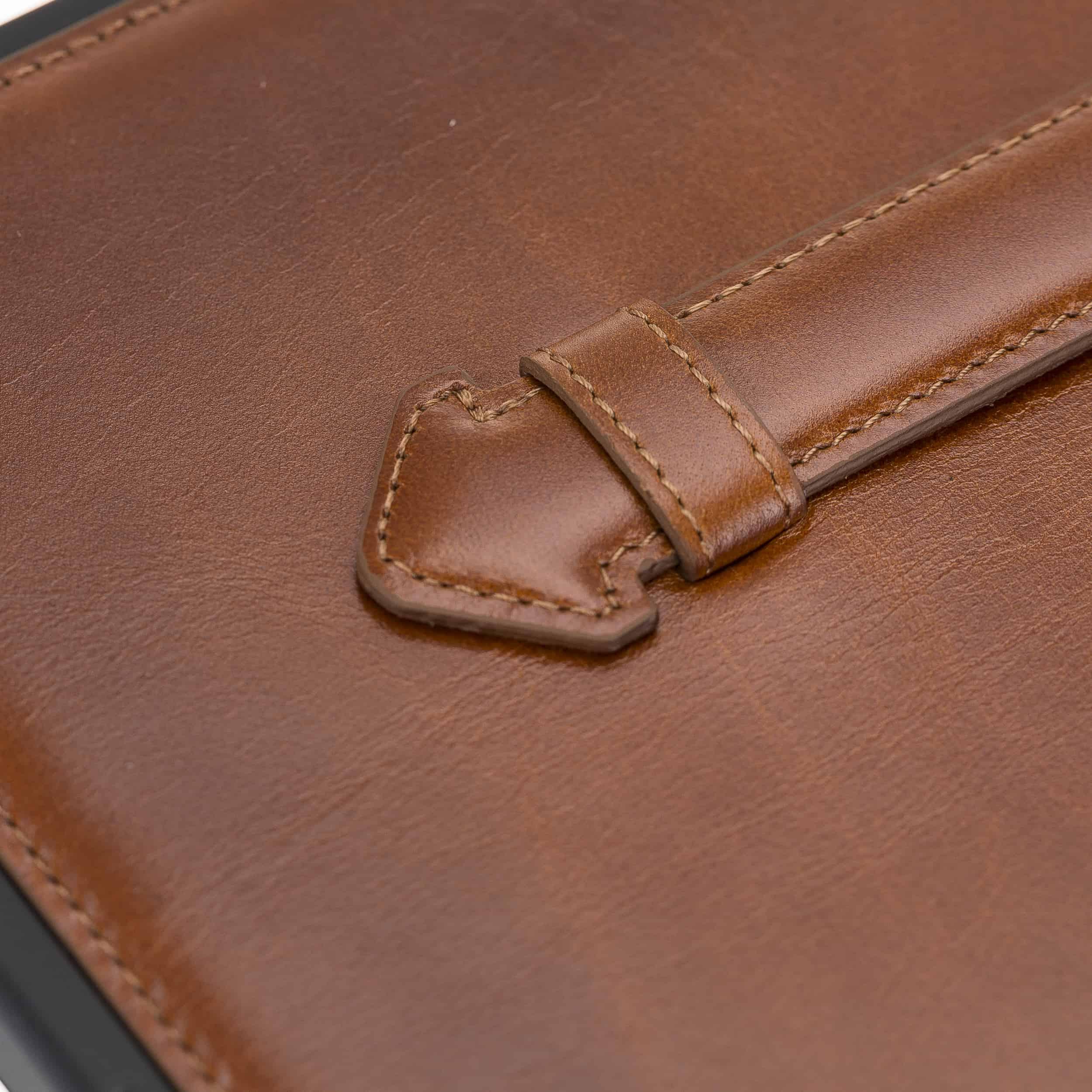 "Solo Pelle Hülle geeignet für Apple iPad Pro 11"" 2020 Echtleder Case aus echtem Leder. Unterstützt Pencil inkl. Ledergriff (Cognac Braun Effekt)"
