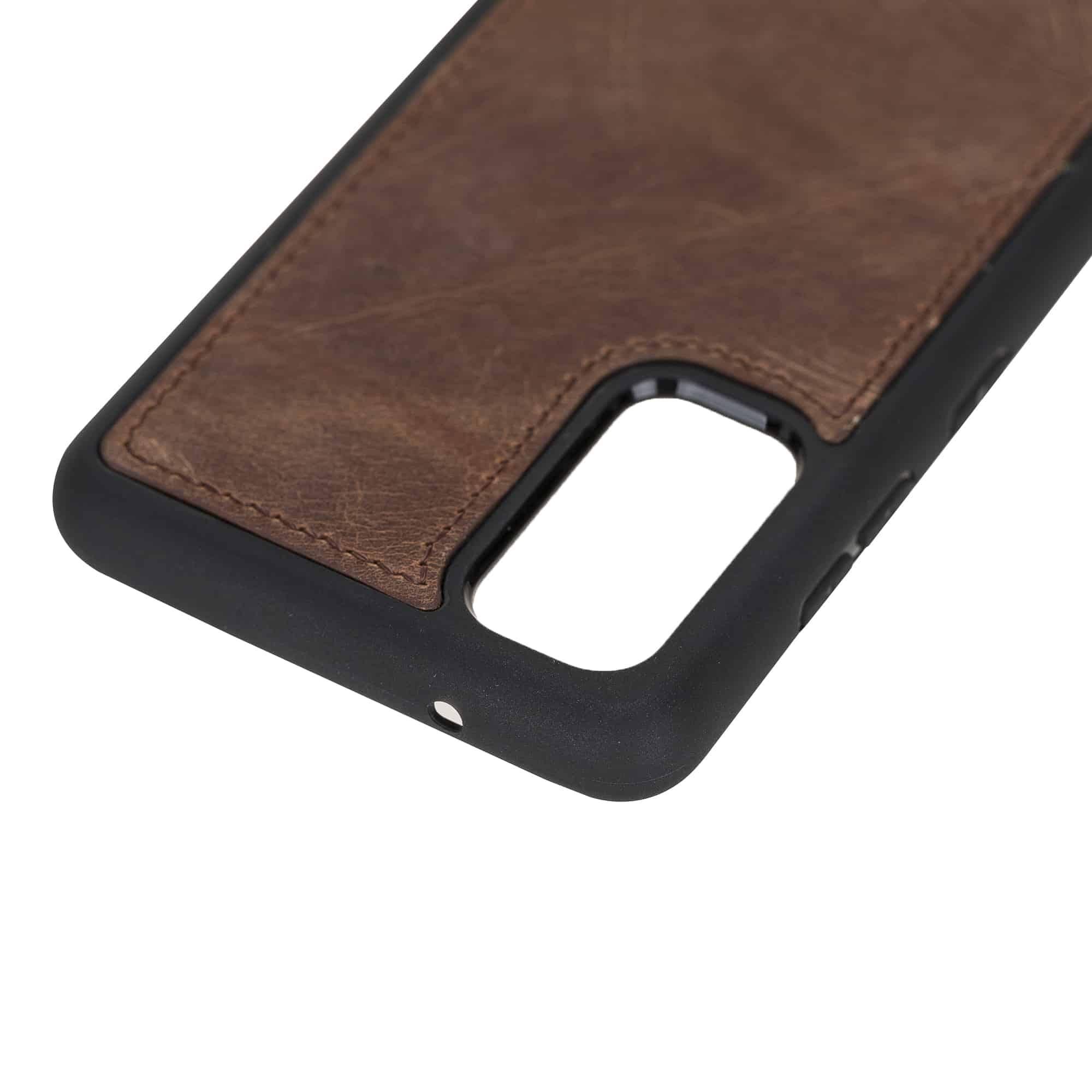 Solo Pelle Lederhülle für das Samsung Galaxy Note20   Note 20 Hülle aus echtem Leder, Model: Stanford (Vintage Braun)