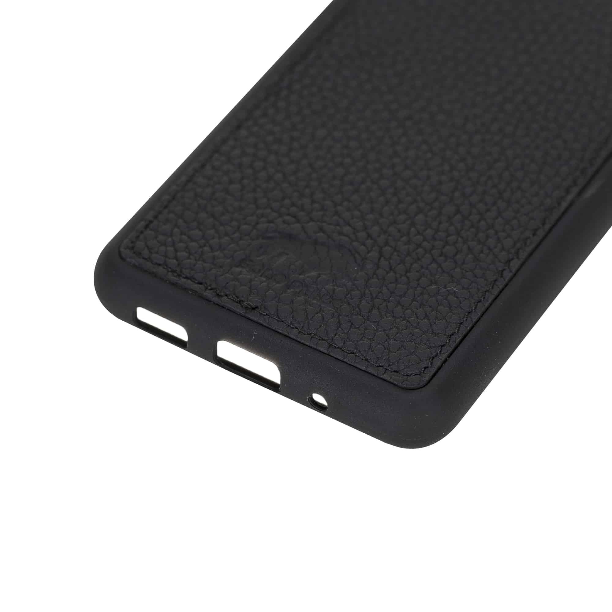 Solo Pelle Lederhülle für das Samsung Galaxy Note20   Note 20 Hülle aus echtem Leder, Model: Stanford (Matt Schwarz)
