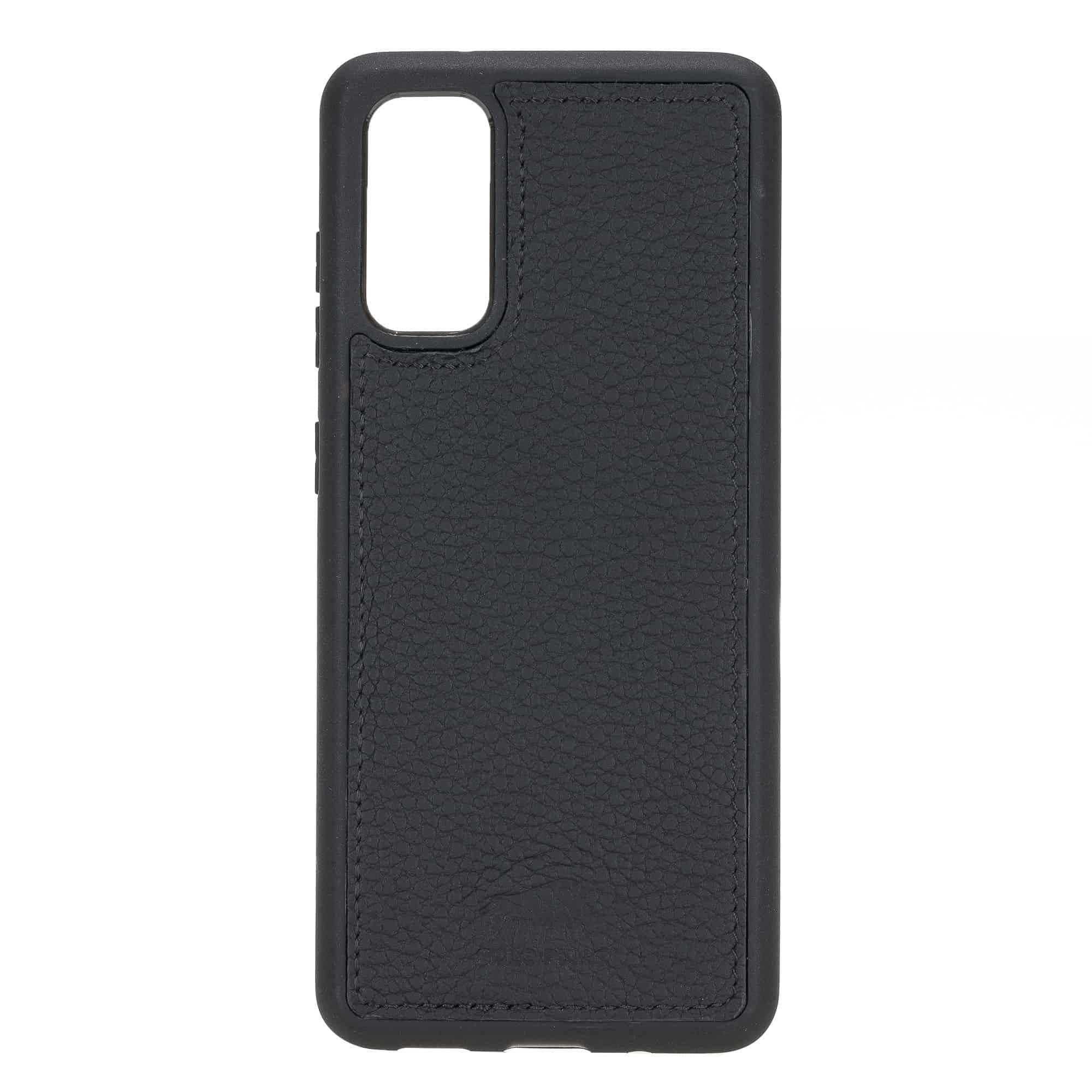 Solo Pelle Lederhülle für das Samsung Galaxy Note20 | Note 20 Hülle aus echtem Leder, Model: Stanford (Matt Schwarz)