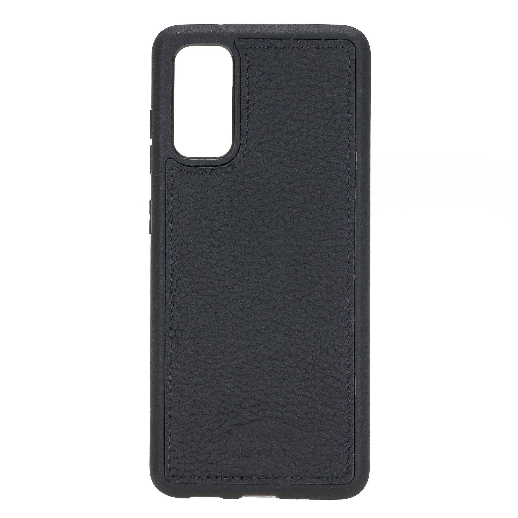 Solo Pelle Lederhülle Harvard kompatibel für das Samsung Galaxy Note20 I Note 20 inklusive abnehmbare Hülle mit integrierten Kartenfächer (Matt Schwarz)