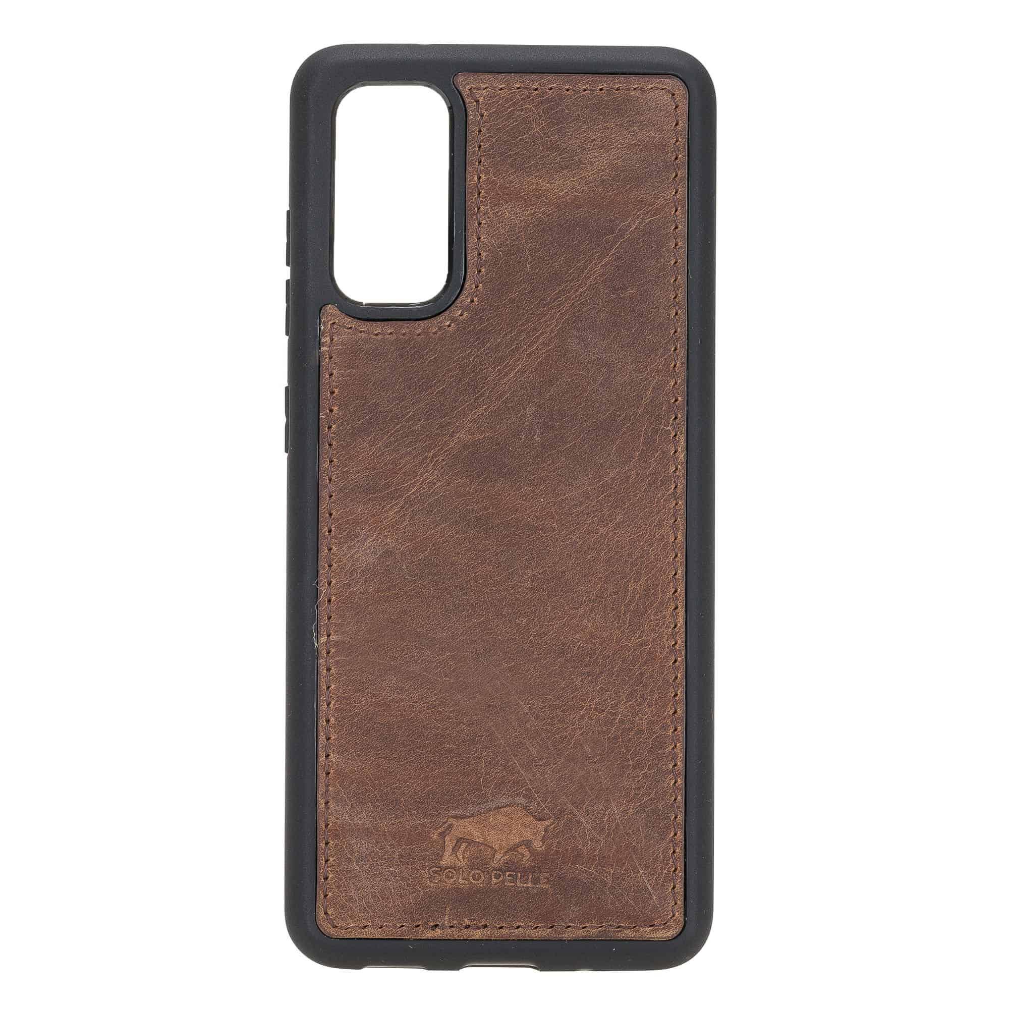 Solo Pelle Lederhülle für das Samsung Galaxy Note20 | Note 20 Hülle aus echtem Leder, Model: Stanford (Vintage Braun)