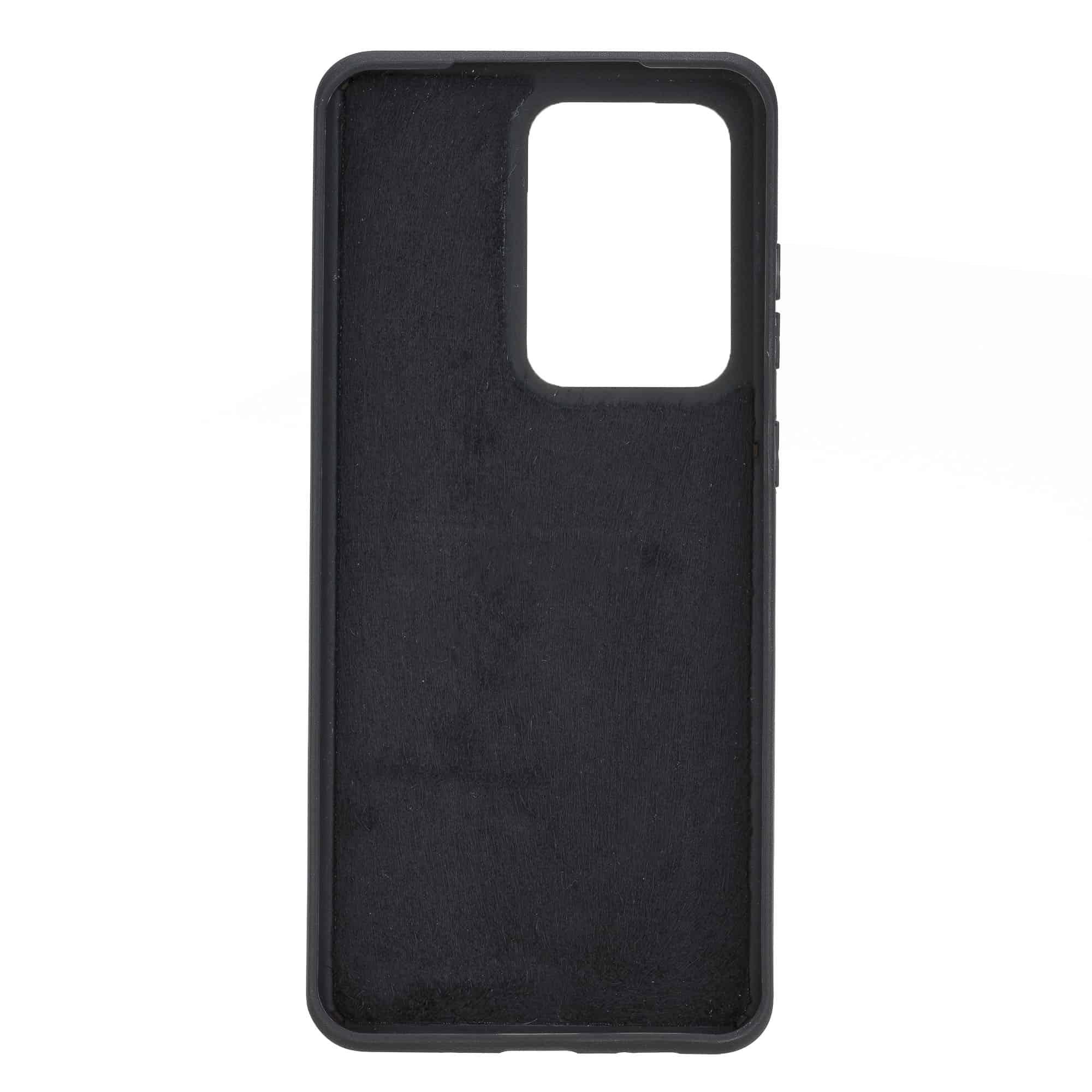 Solo Pelle Lederhülle für das Samsung Galaxy Note 20 Ultra Hülle aus echtem Leder, Model: Stanford (Matt Schwarz)