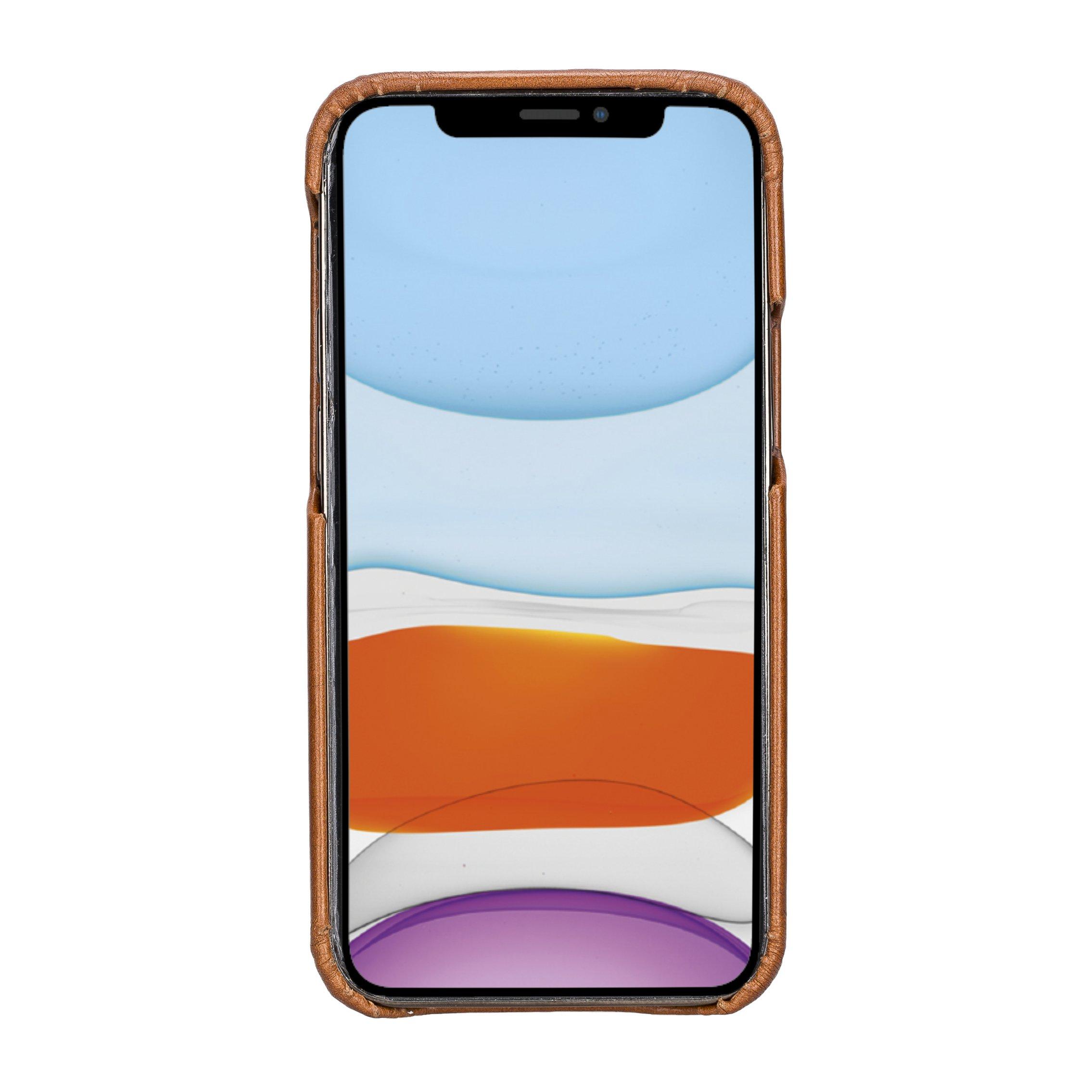 "iPhone 12 Mini Lederhülle ""Princeton"" MagSafe kompatibel (Rot Effekt)"