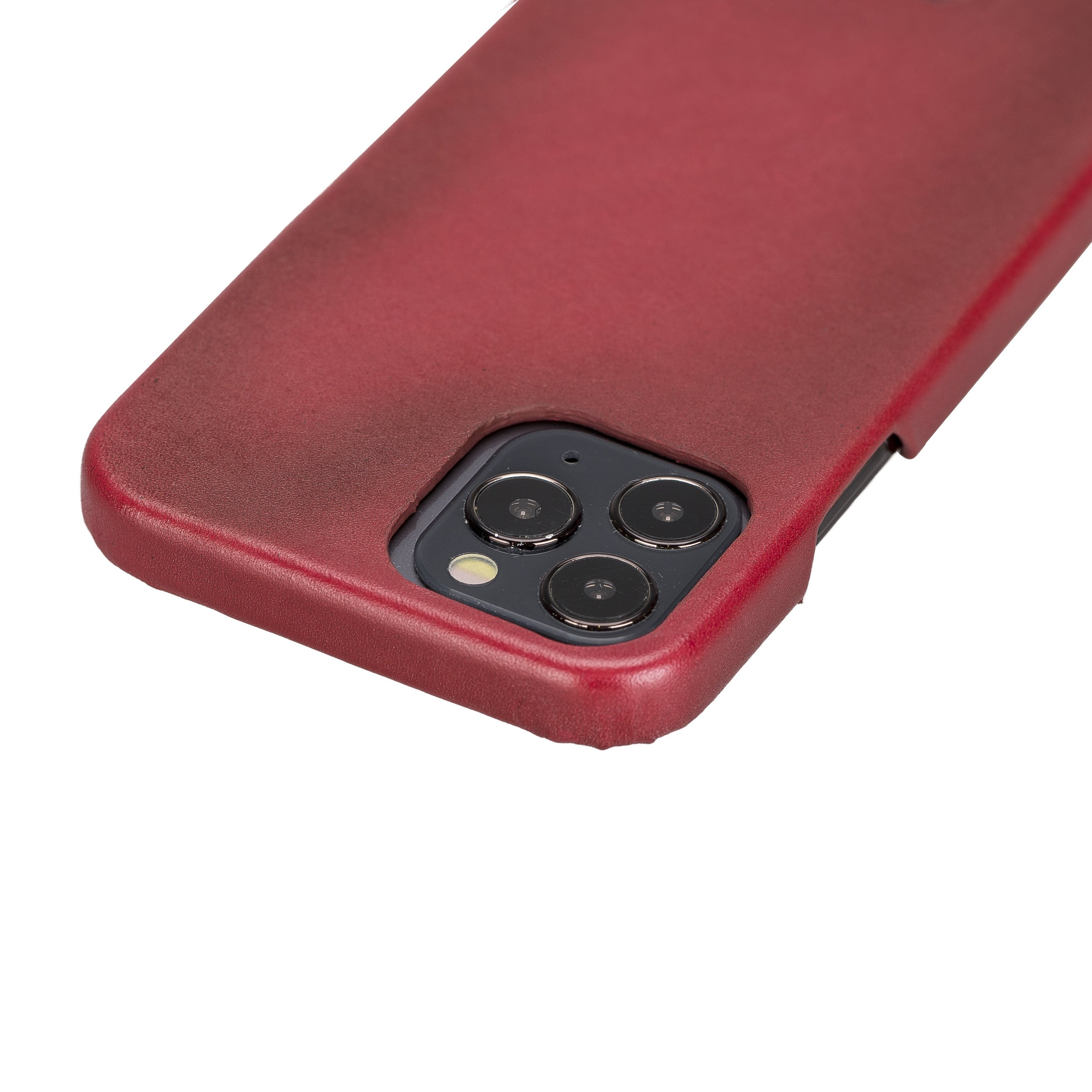 Solo Pelle Lederhülle für das iPhone 12 / iPhone 12 Pro in 6.1 Zoll Princeton Case Leder Hülle Ledertasche Backcover aus echtem Leder (Steingrau)