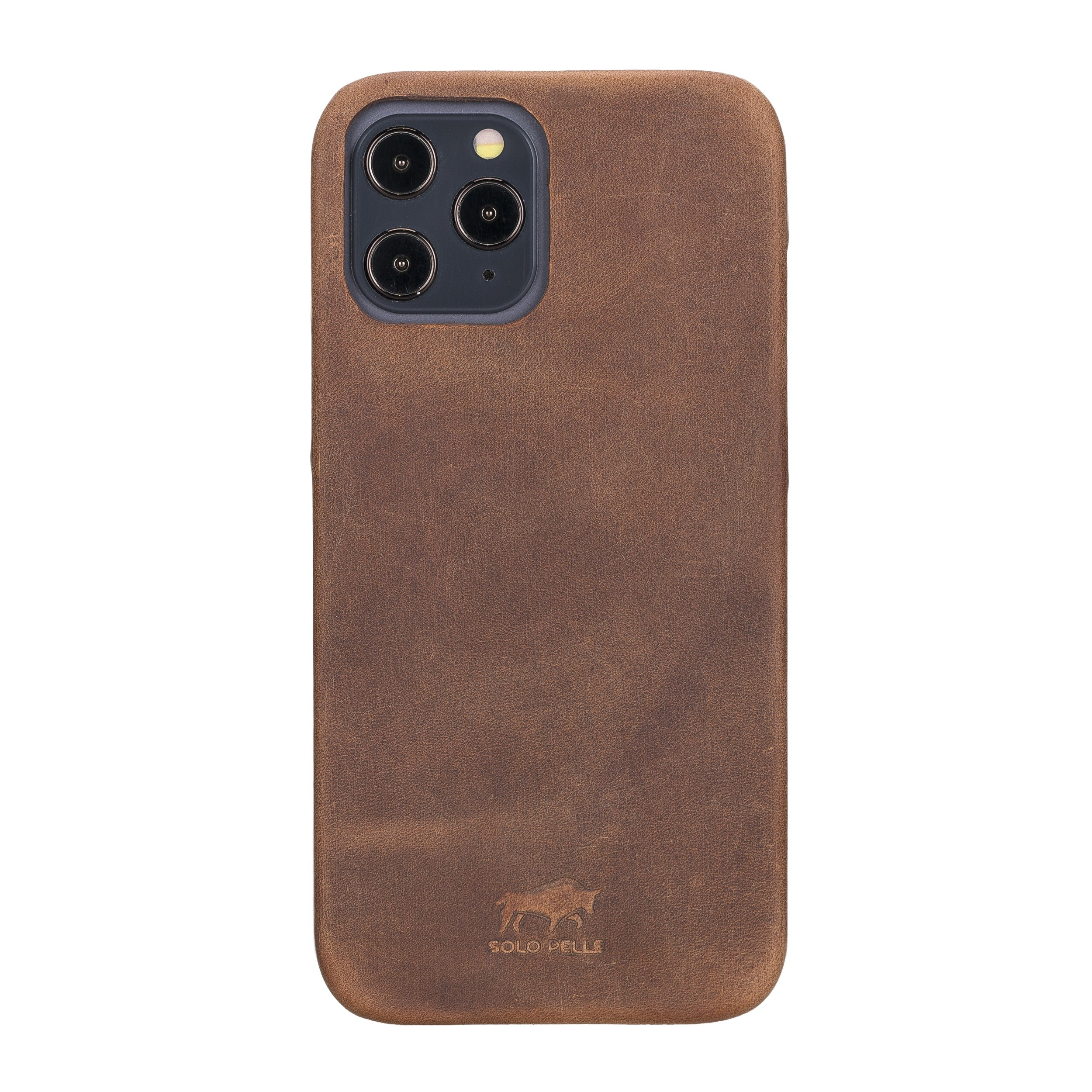 "iPhone 12 Pro Max Lederhülle ""Princeton"" MagSafe kompatibel (Matt Schwarz)"